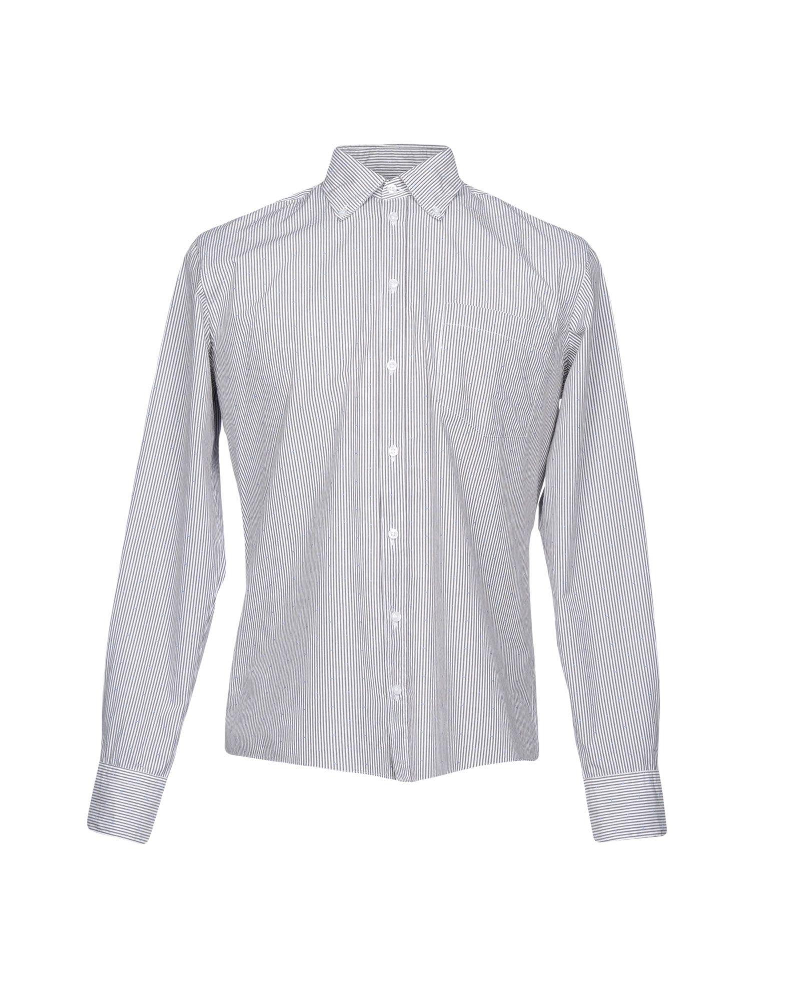 《送料無料》MAESTRAMI メンズ シャツ スチールグレー 39 コットン 100%