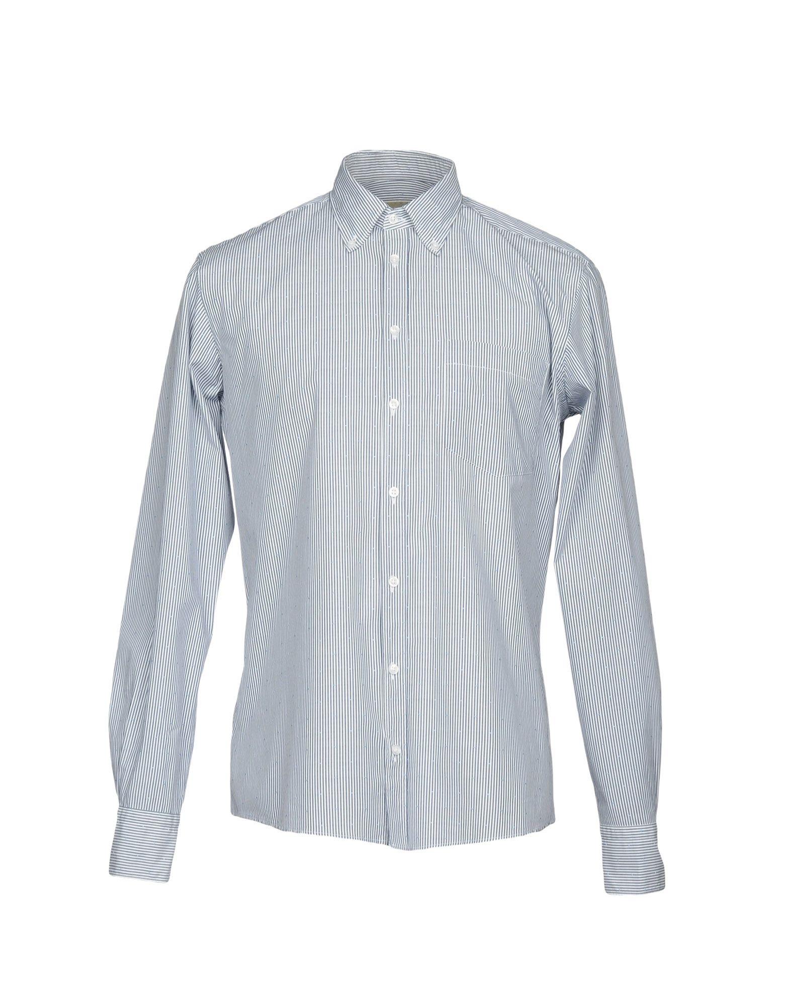 《送料無料》MAESTRAMI メンズ シャツ ダークブルー 40 コットン 100%