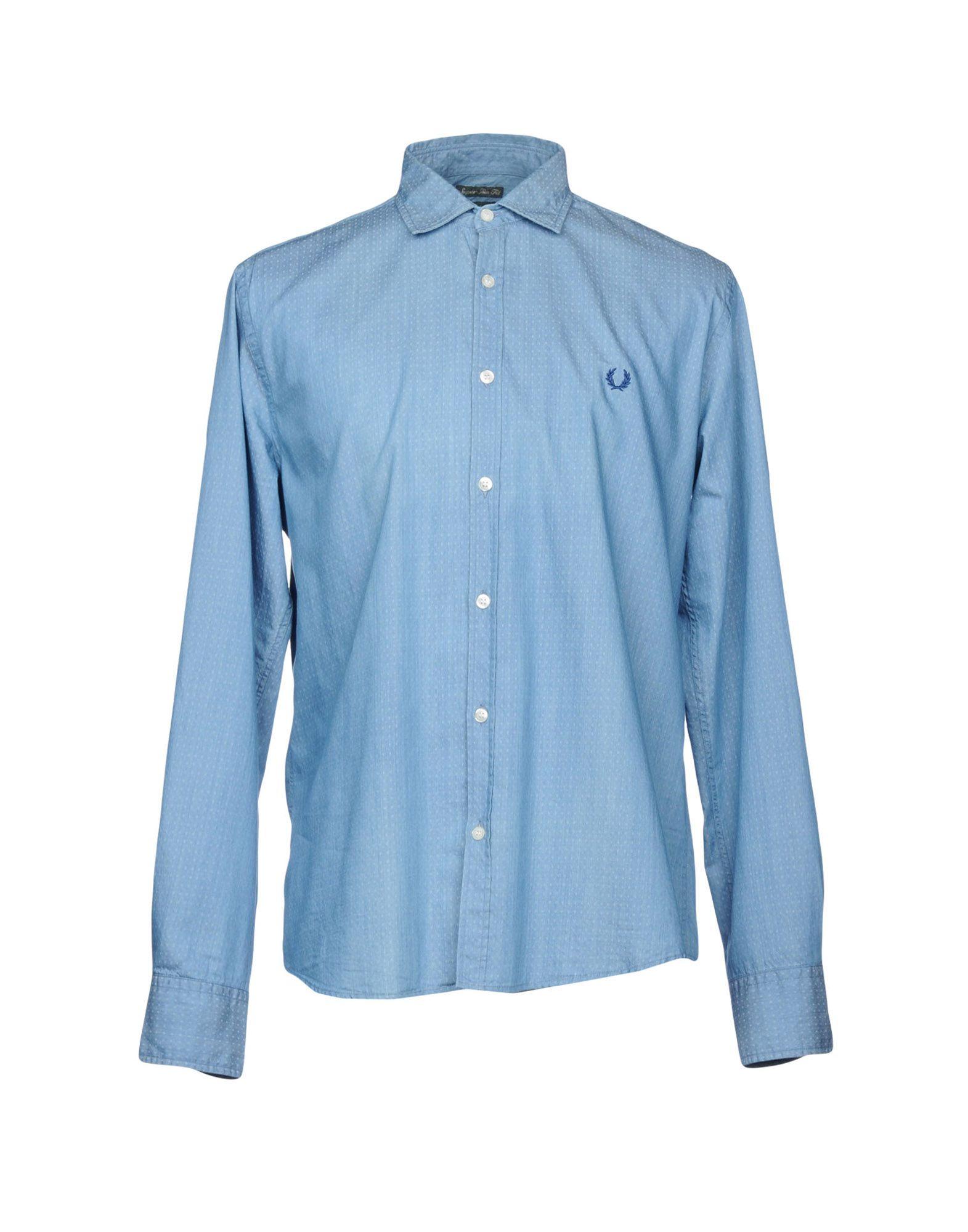 FRED PERRY Джинсовая рубашка рубашка в клетку fred perry gingham shirt long sleeve black white
