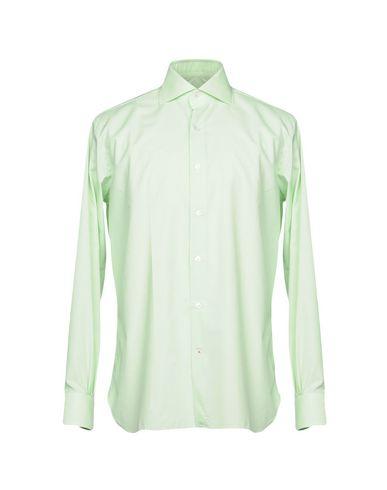 Фото - Pубашка от ROBERTO RICETTI светло-зеленого цвета