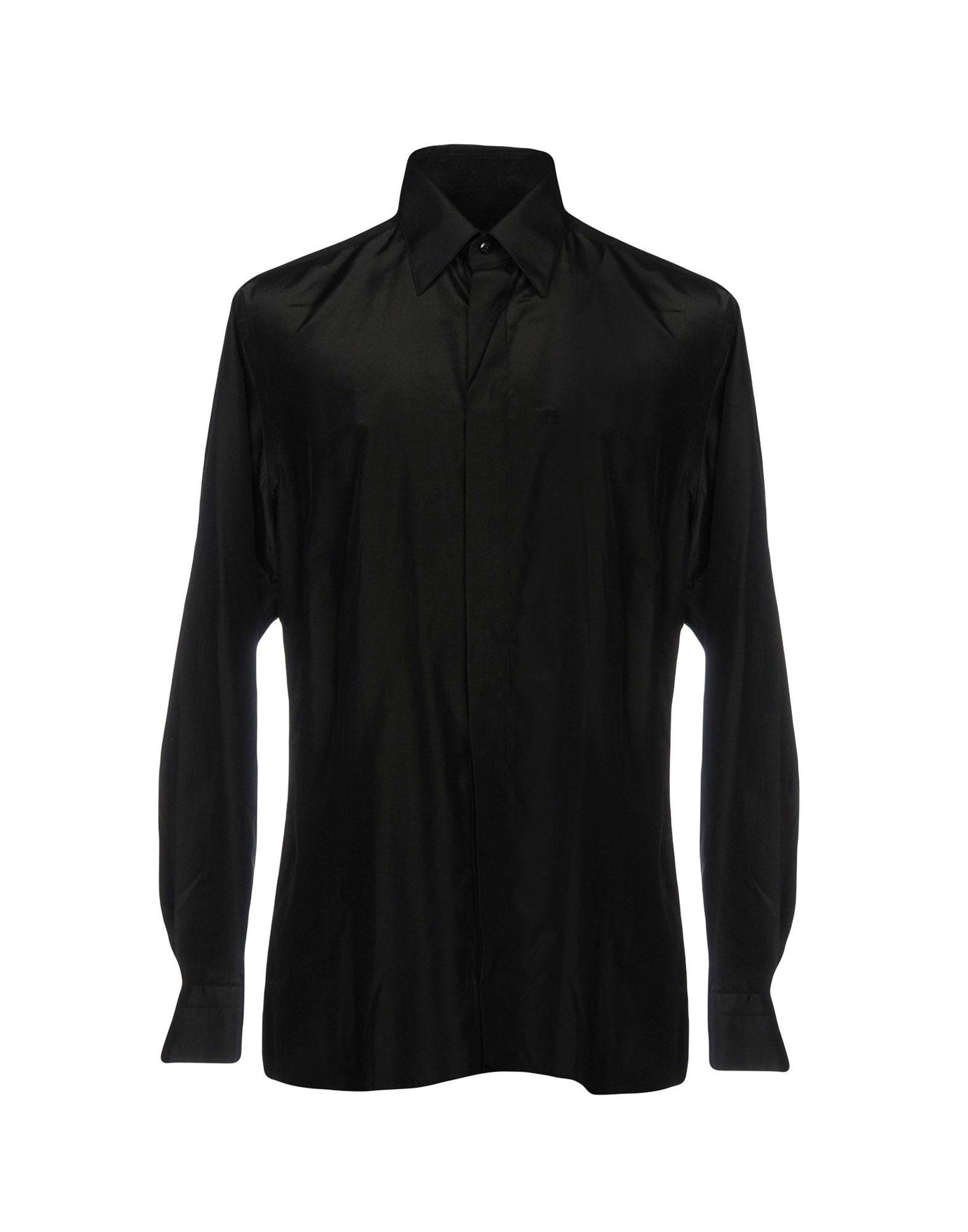 CARLO PIGNATELLI Solid Color Shirt in Black