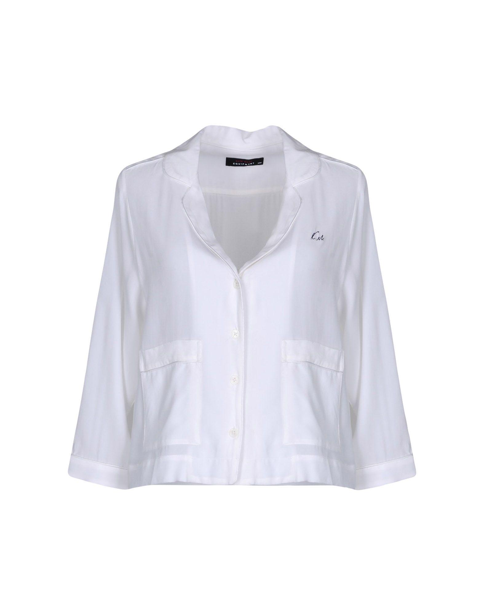 《送料無料》KATE MOSS EQUIPMENT レディース シャツ ホワイト M シルク 100%