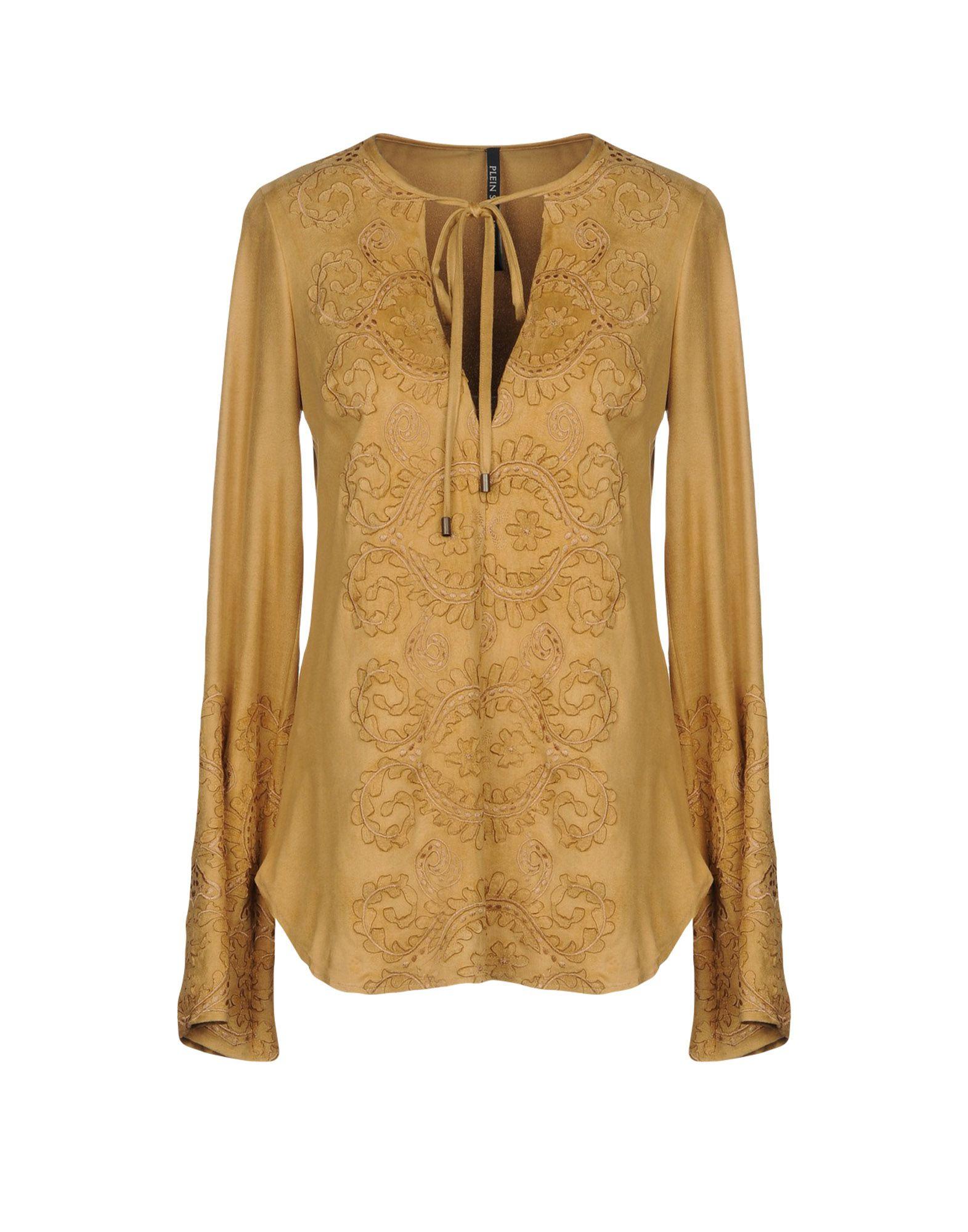 PLEIN SUD JEANIUS Damen Bluse Farbe Beige Größe 6