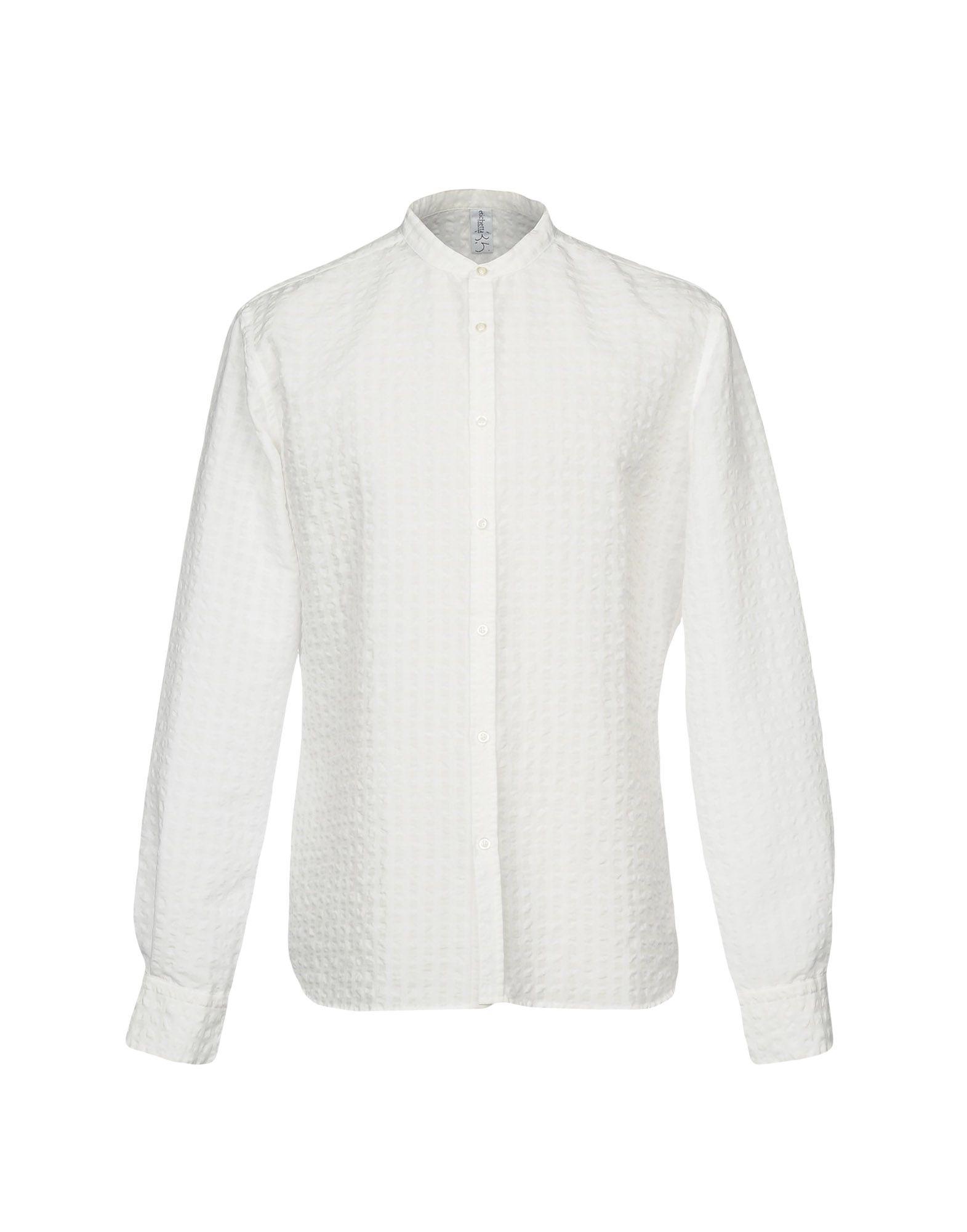 ETICHETTA 35 Herren Hemd Farbe Weiß Größe 8