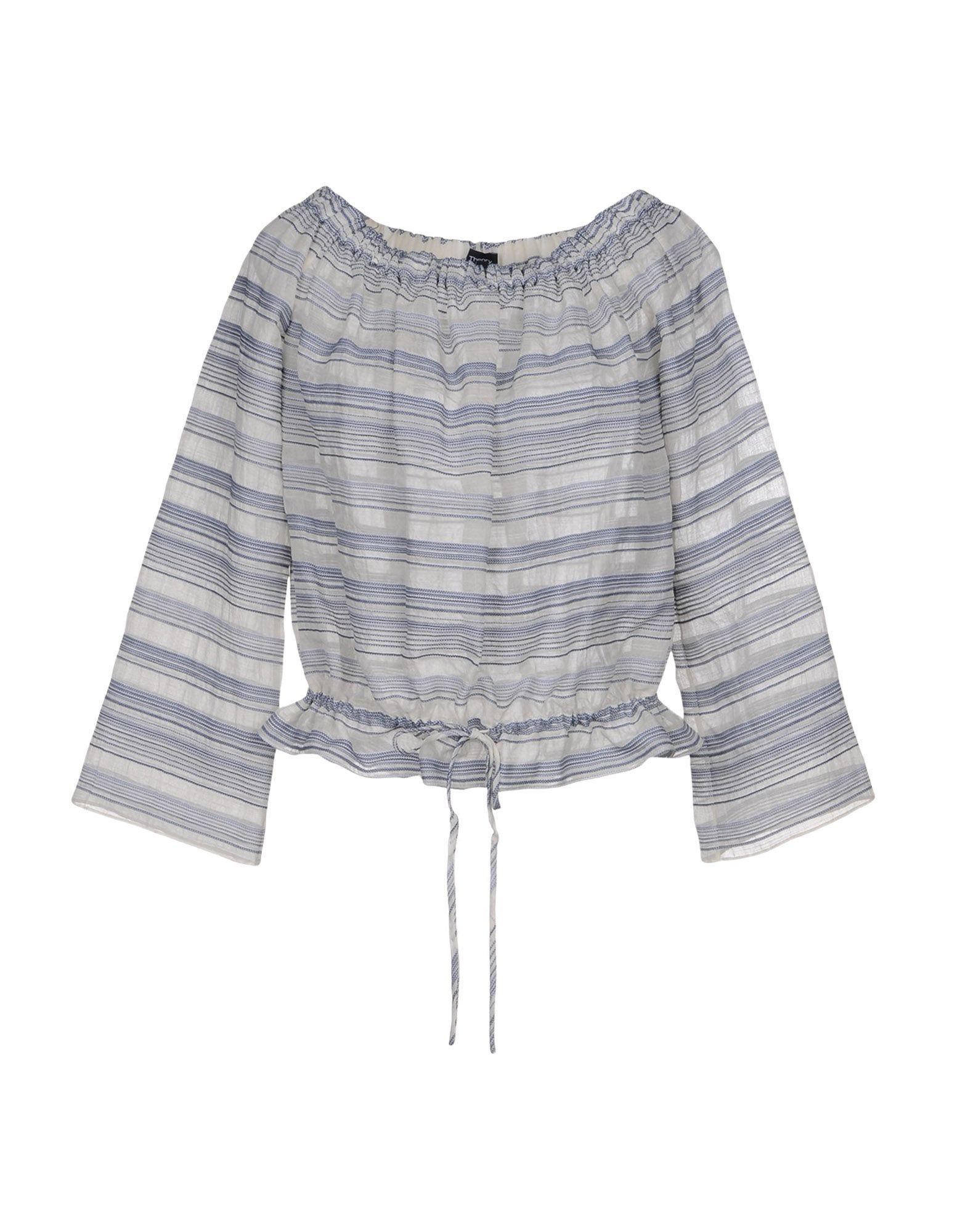 THEORY Блузка блузка в полоску marice