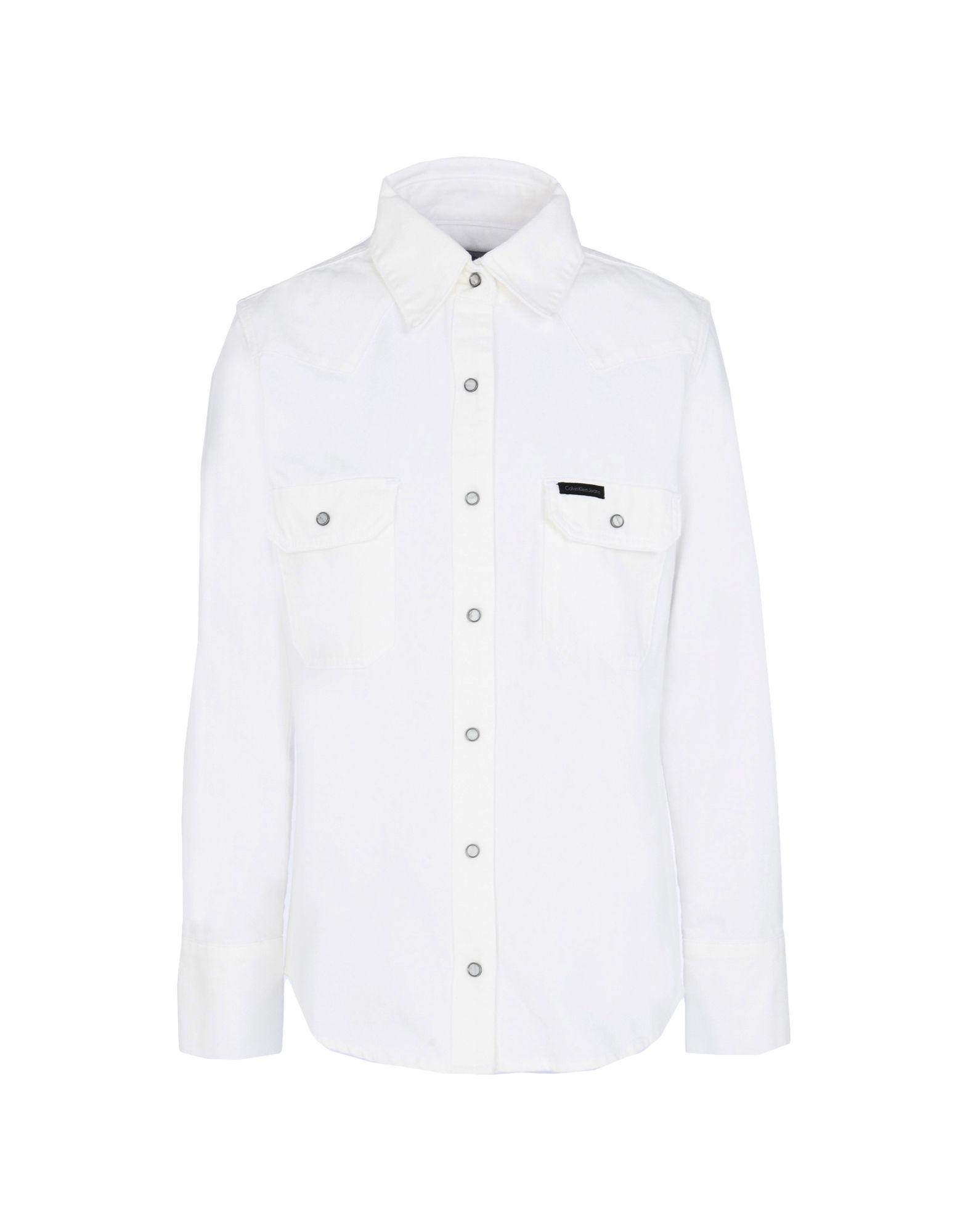 CALVIN KLEIN JEANS Джинсовая рубашка кошелек calvin klein jeans calvin klein jeans ca939bwapqt1
