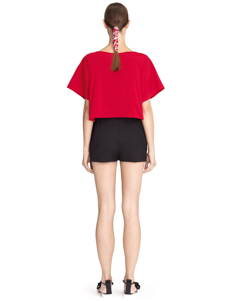 lanvin lanvin logo cropped t shirt top women