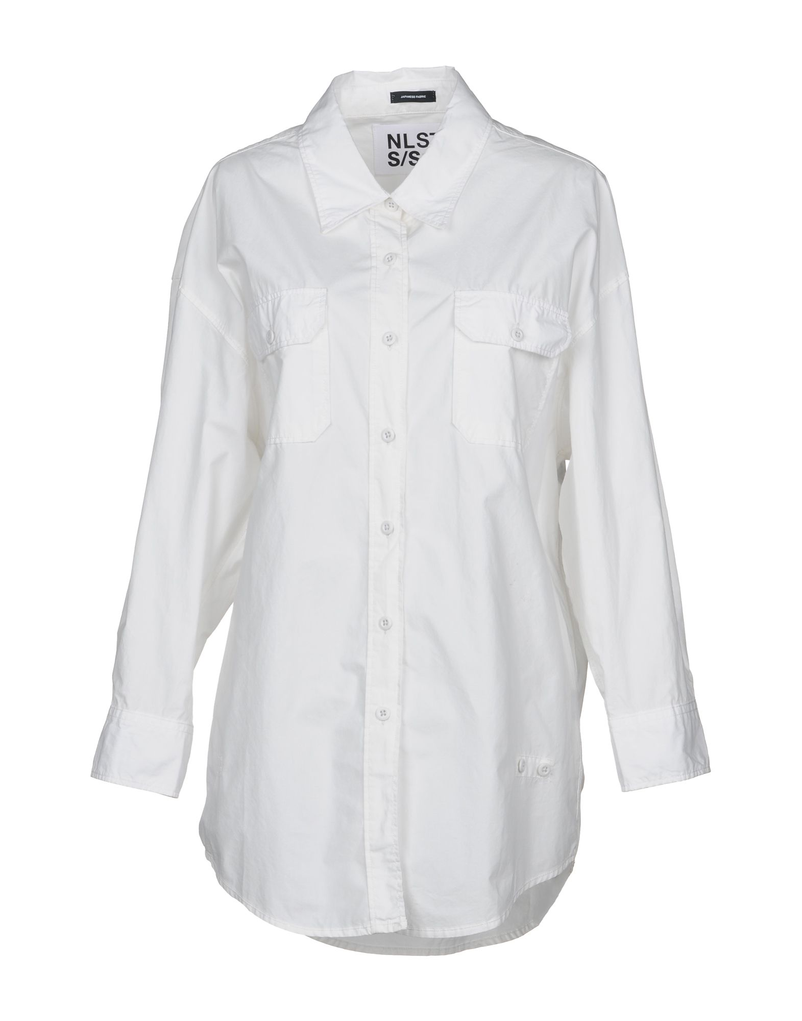 NLST Solid Color Shirts & Blouses in White