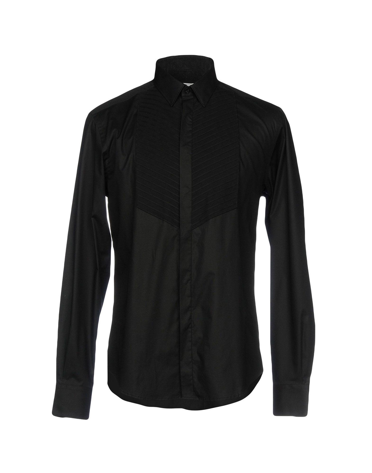 VERSACE COLLECTION Herren Hemd Farbe Schwarz Größe 5