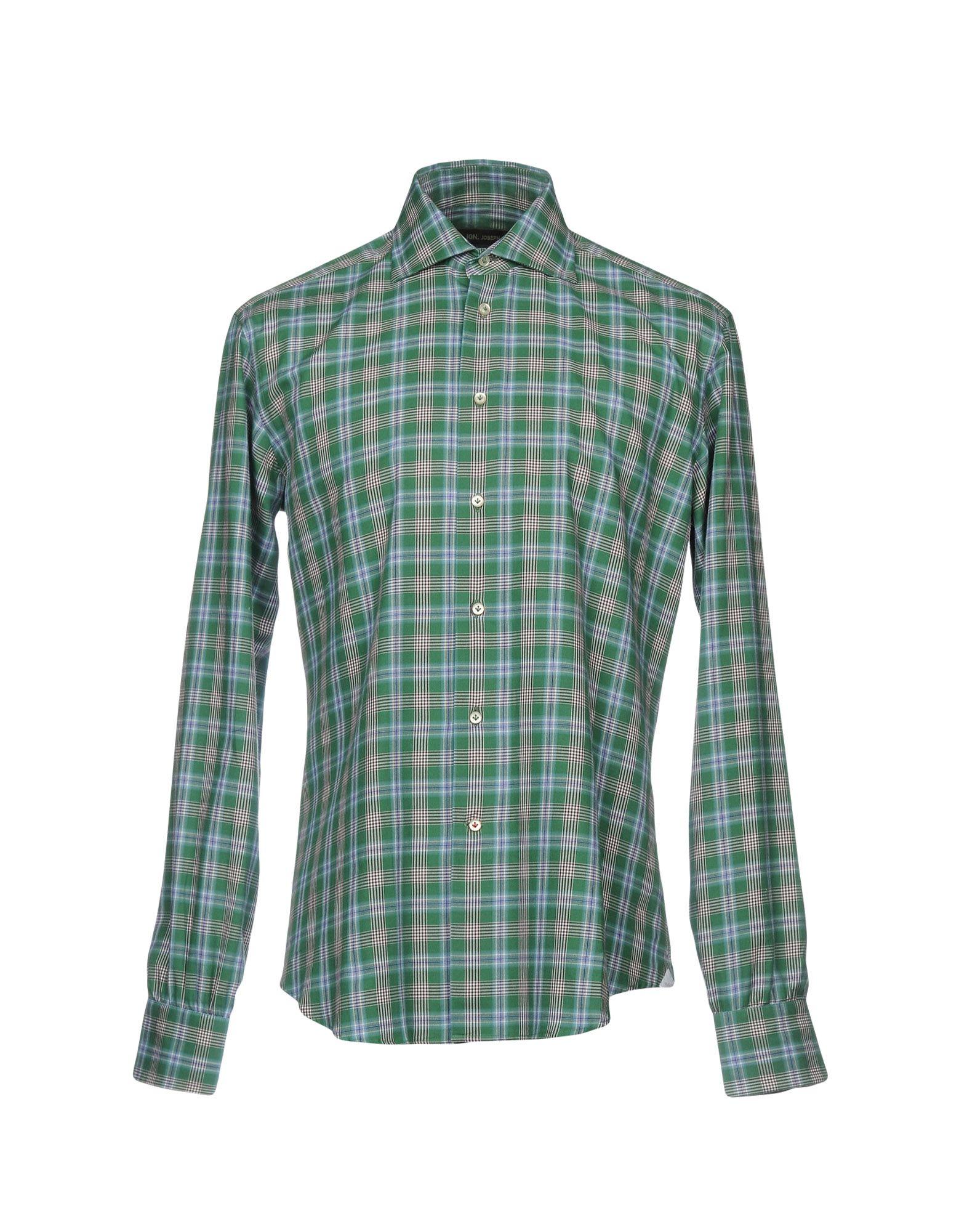 IGN. JOSEPH Herren Hemd Farbe Grün Größe 4