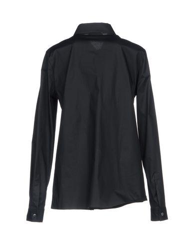 VERSACE COLLECTION Damen Hemd Schwarz Größe 32 95% Baumwolle 5% Elastan