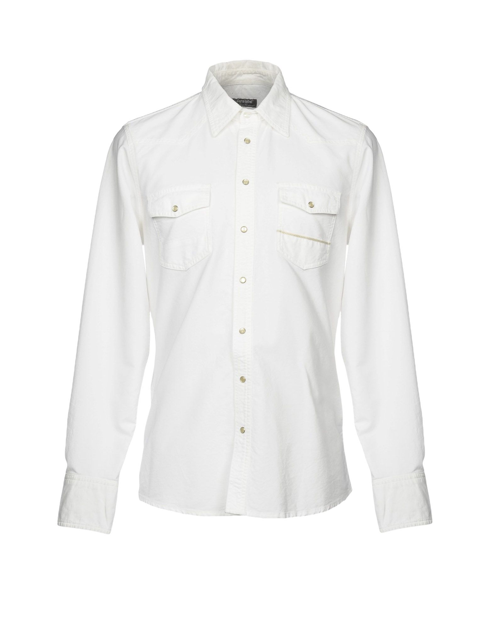 CARE LABEL Solid Color Shirt in White
