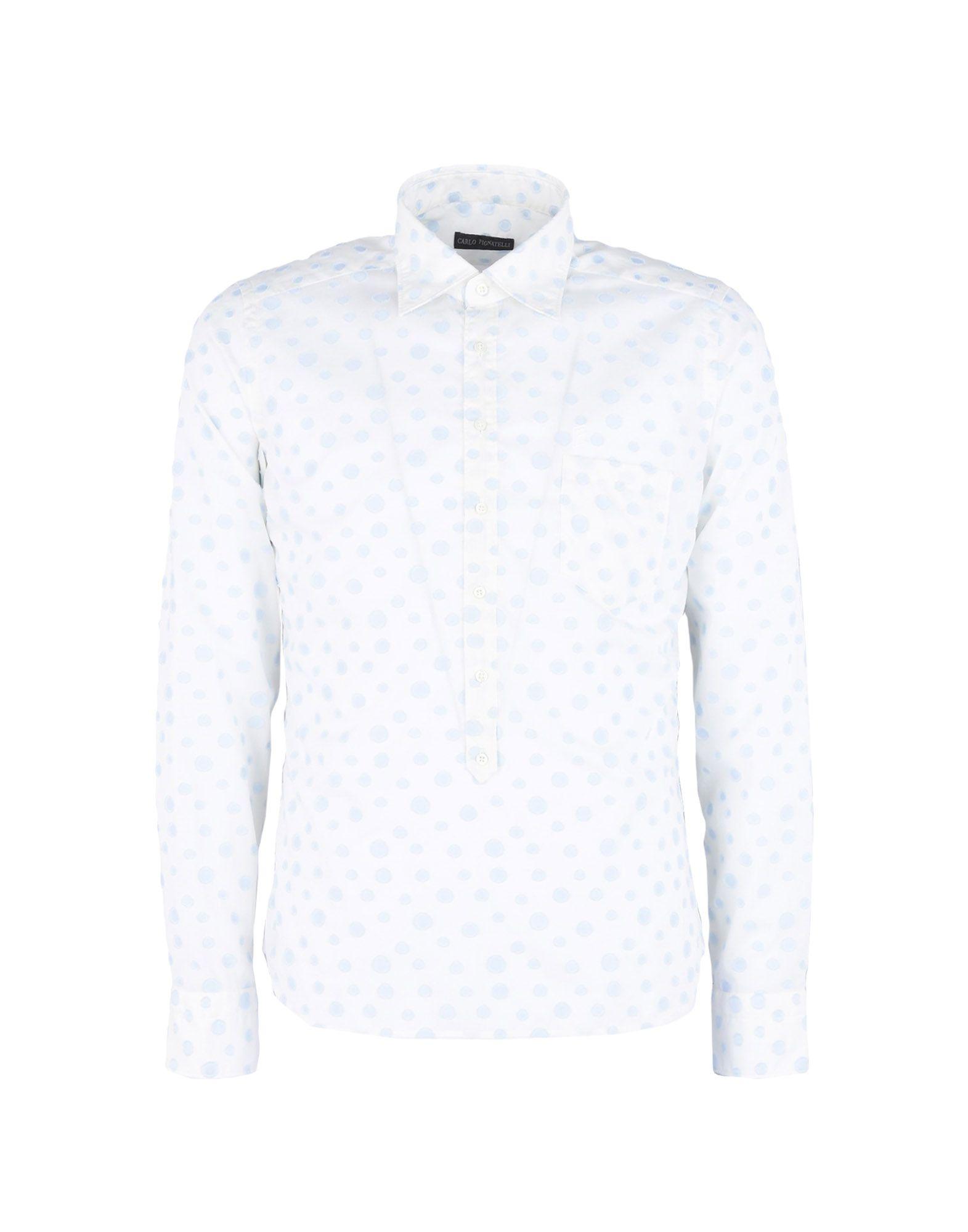CARLO PIGNATELLI Patterned Shirt in Ivory