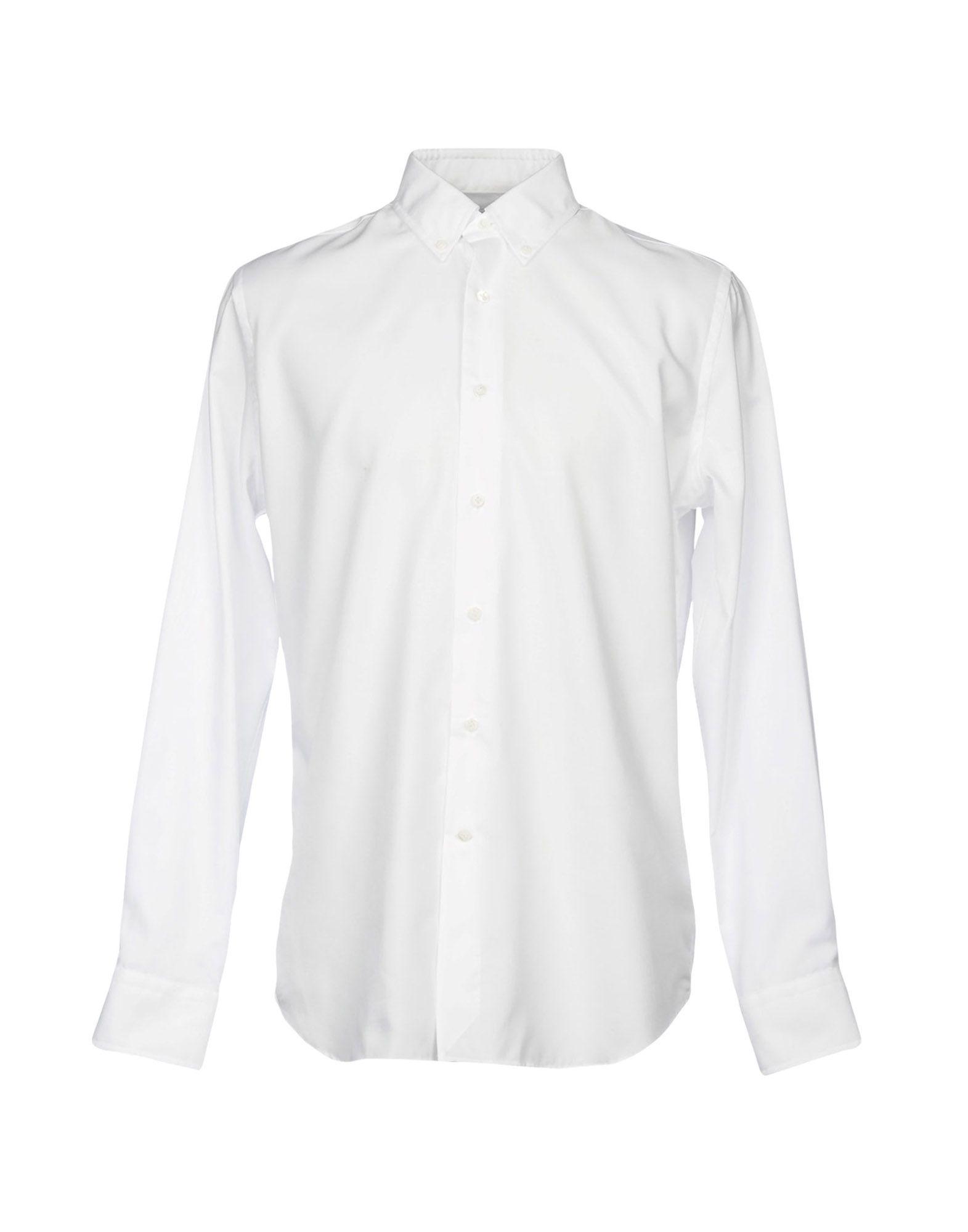BAGUTTA メンズ シャツ ホワイト 44 コットン 100%