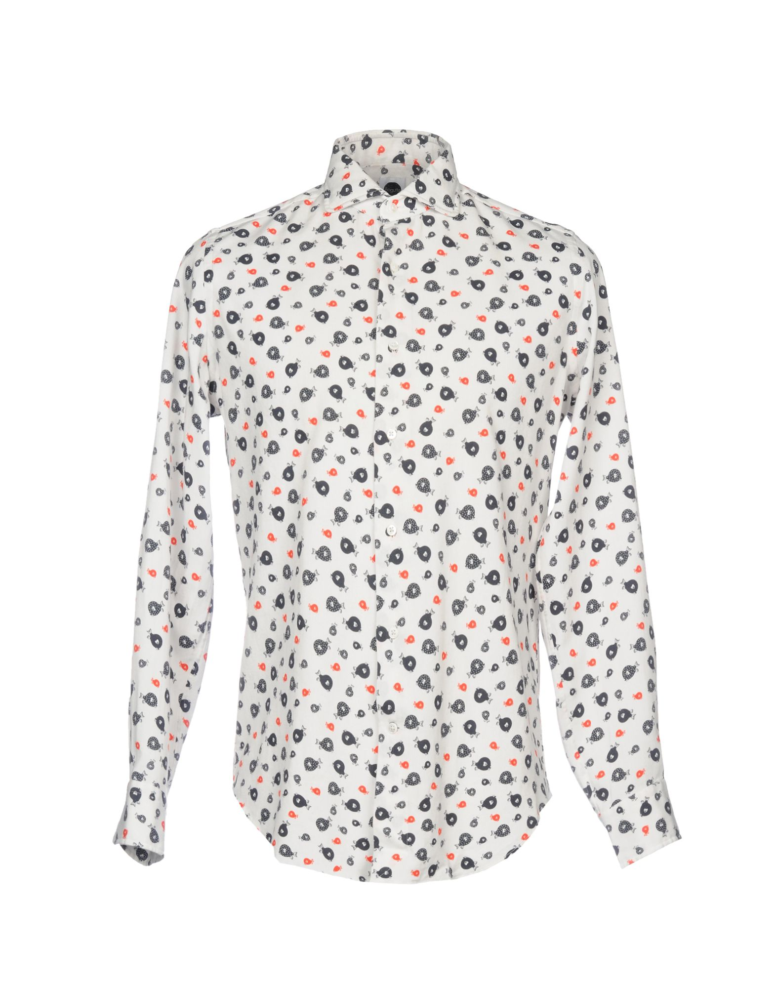《送料無料》BAGUTTA メンズ シャツ ホワイト L コットン 100%