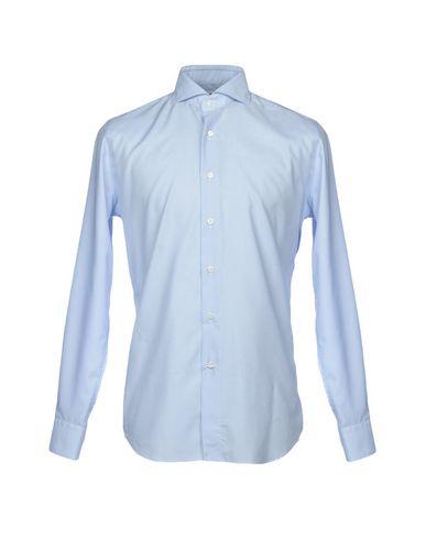 BAGUTTA メンズ シャツ アジュールブルー 37 コットン 100%
