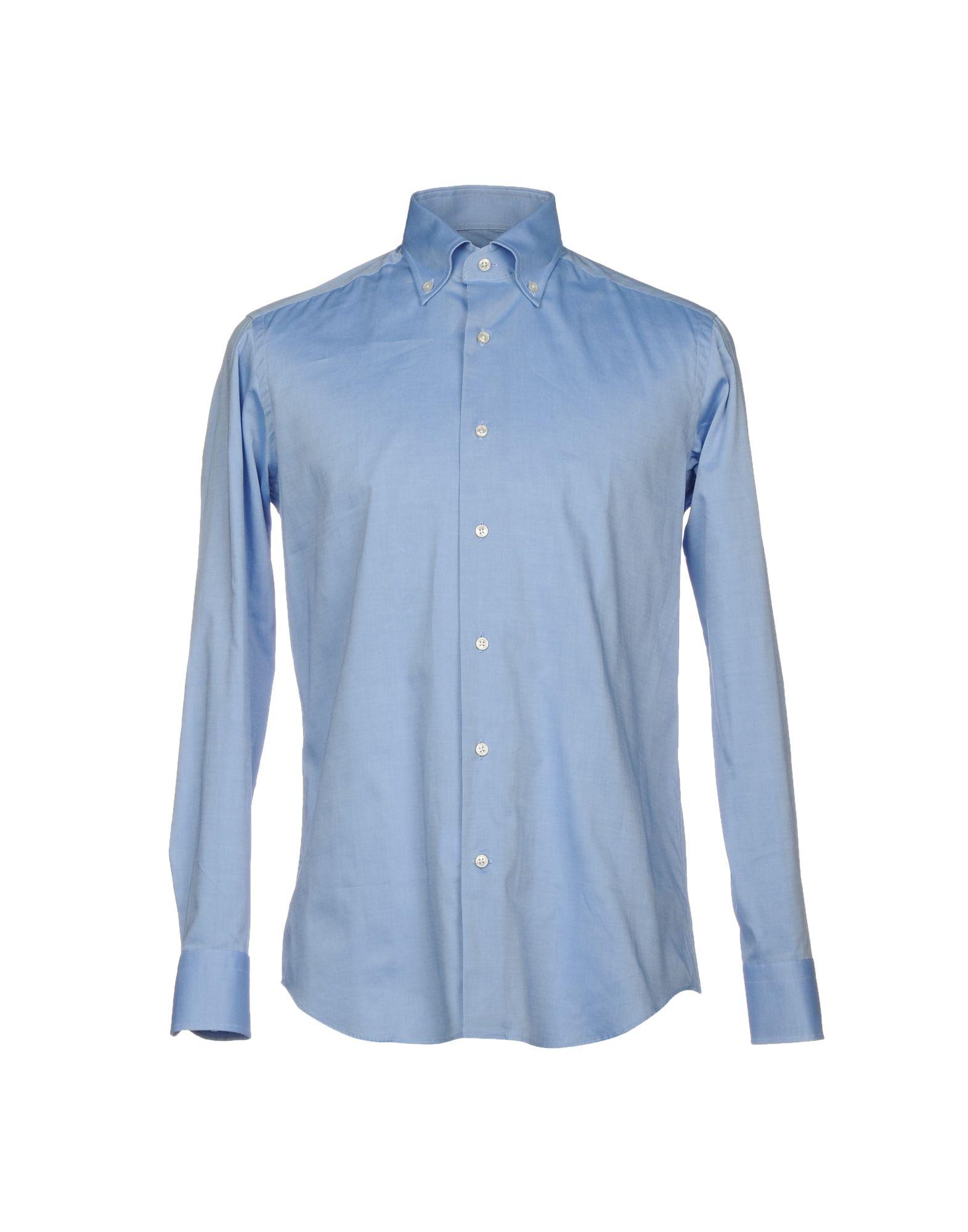 《送料無料》HEAVEN BIRD メンズ シャツ ブルー 39 コットン 100%