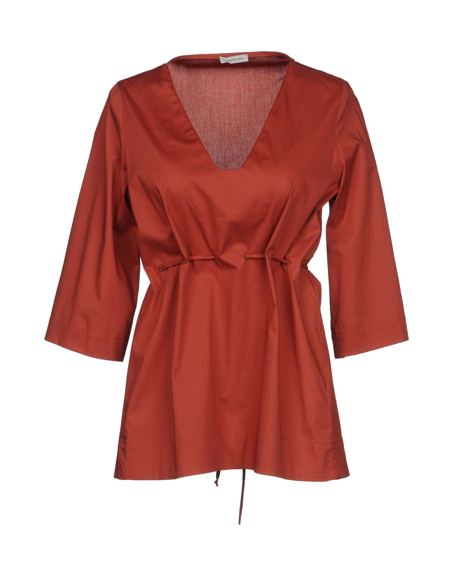 JUPE DE SATIN Блузка v de vinster блузка