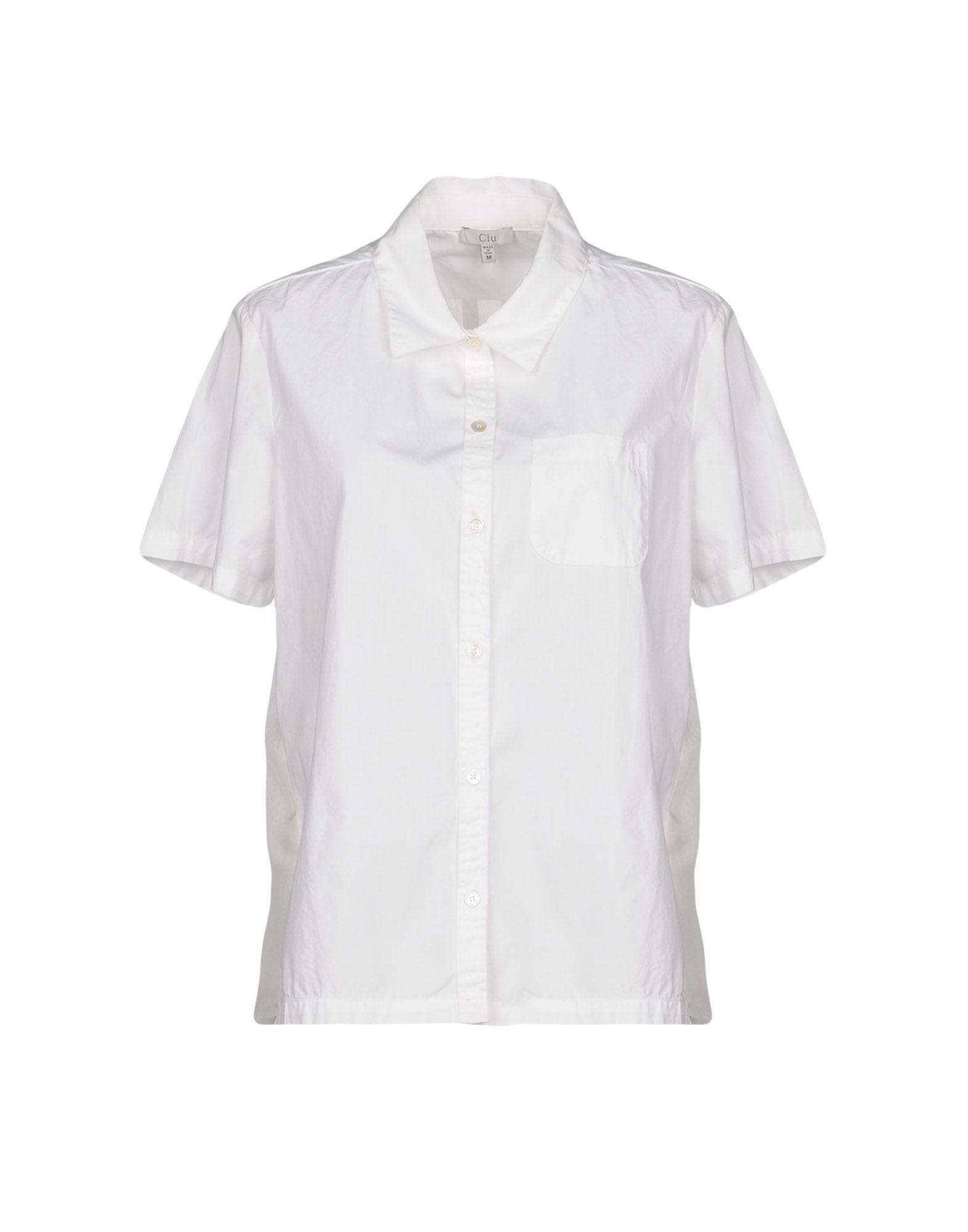 《送料無料》CLU レディース シャツ ホワイト L コットン 100% / シルク
