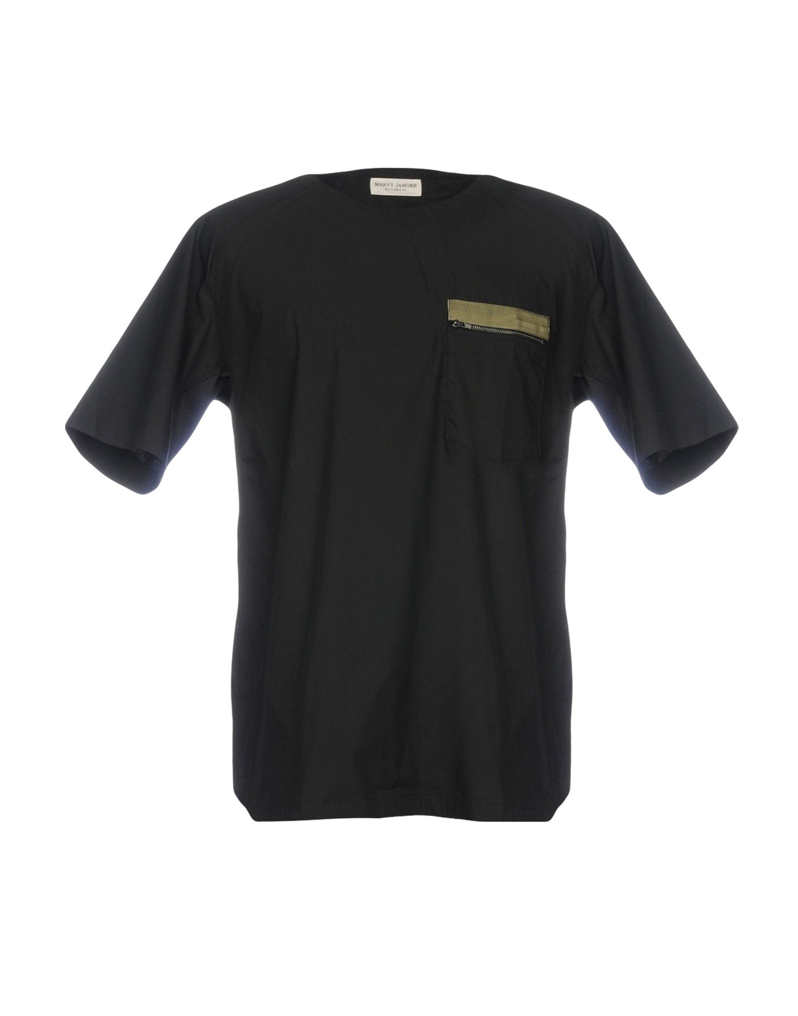 MARVY JAMOKE Solid Color Shirt in Black