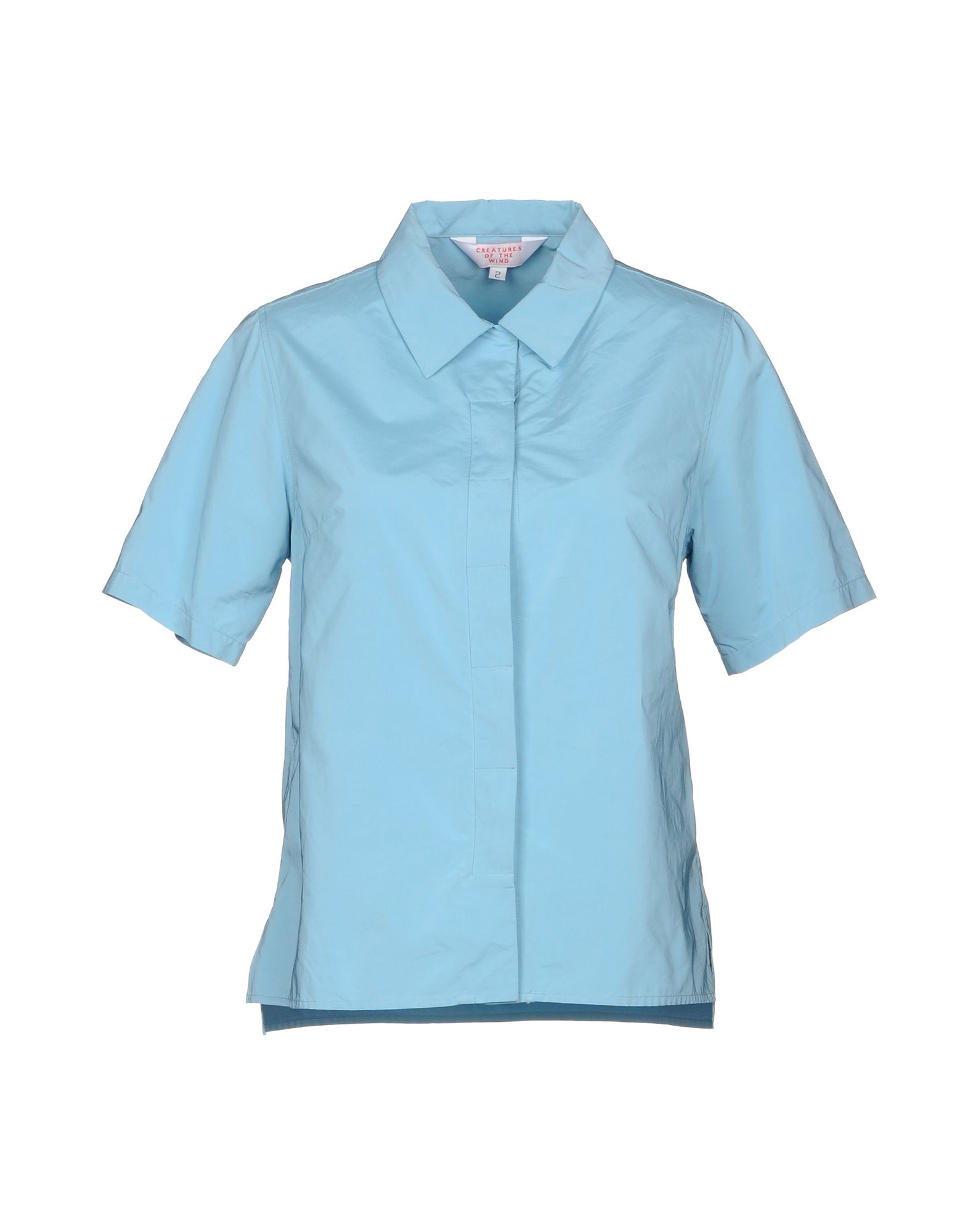 CREATURES OF THE WIND Solid Color Shirts & Blouses in Sky Blue