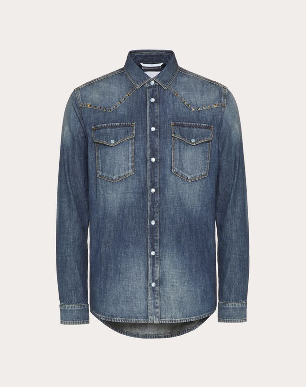 Rockstud Untitled denim shirt