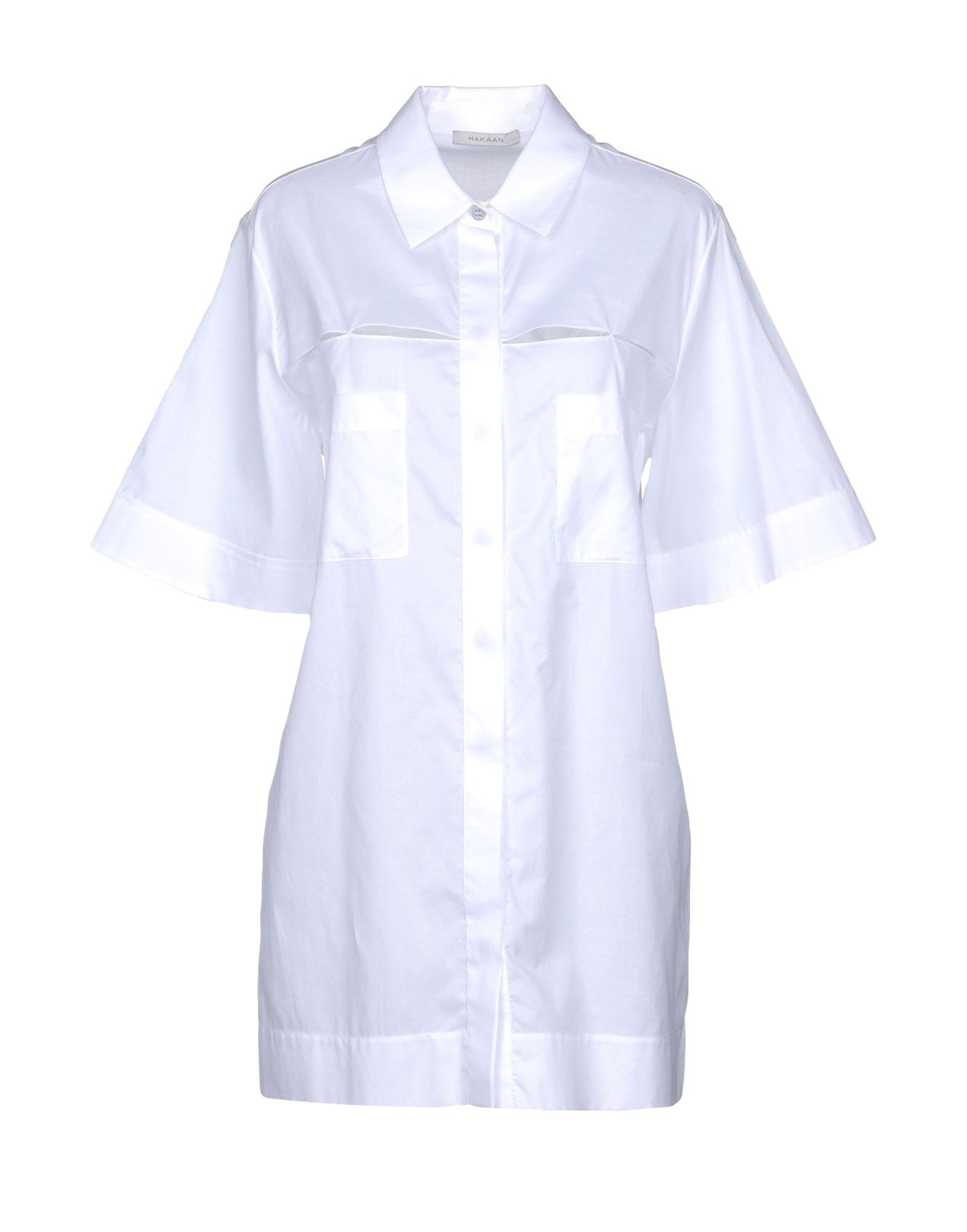 HAKAAN Solid Color Shirts & Blouses in White