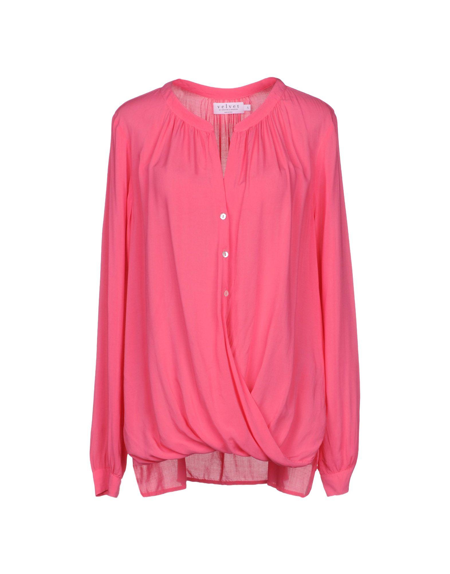 VELVET by GRAHAM & SPENCER Pубашка v neck lace trim velvet blouse