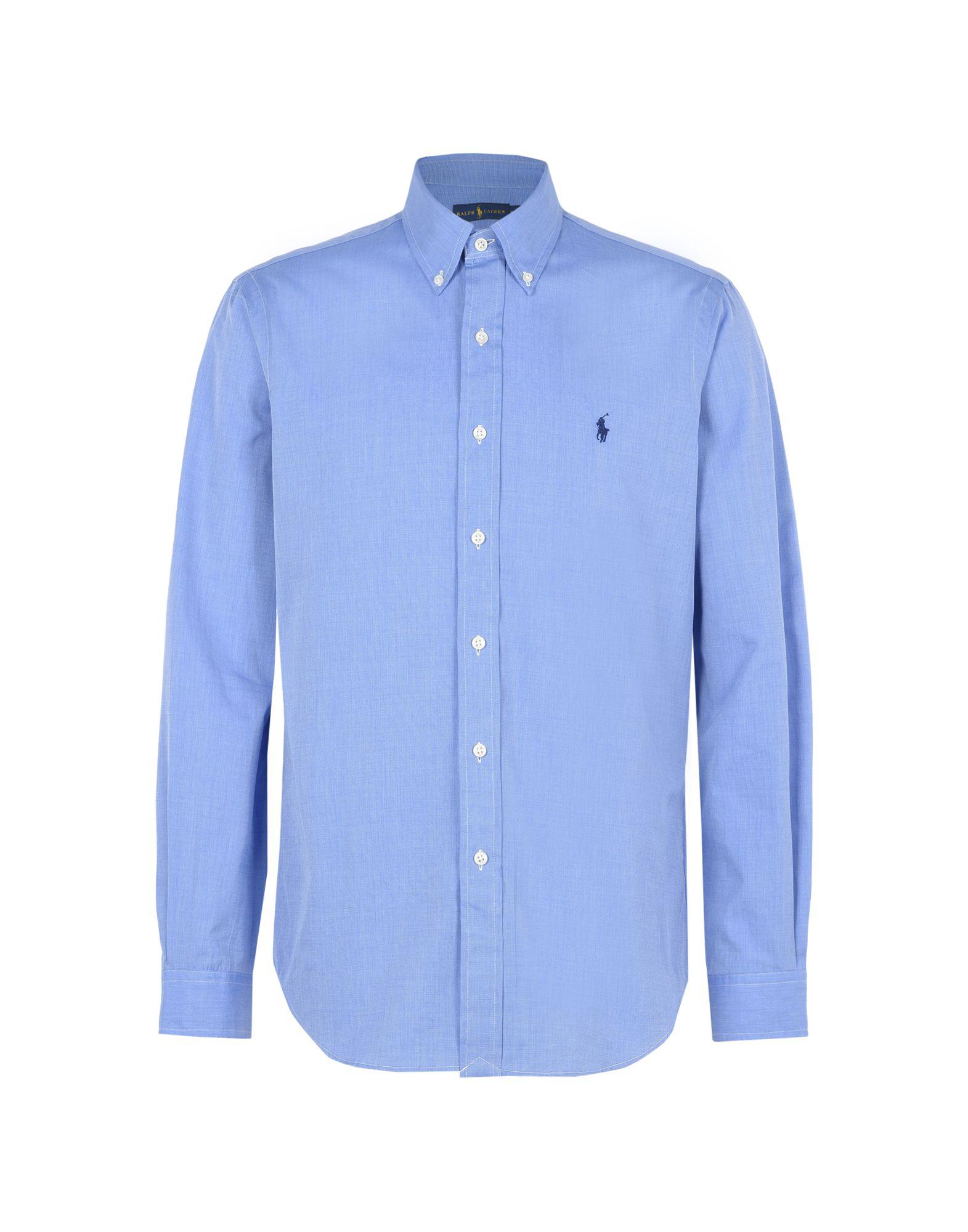 《送料無料》POLO RALPH LAUREN メンズ シャツ パステルブルー S コットン 100% Core Fit Poplin Shirt