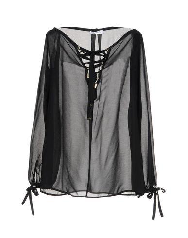 VERSACE COLLECTION Damen Bluse Schwarz Größe 34 100% Polyester