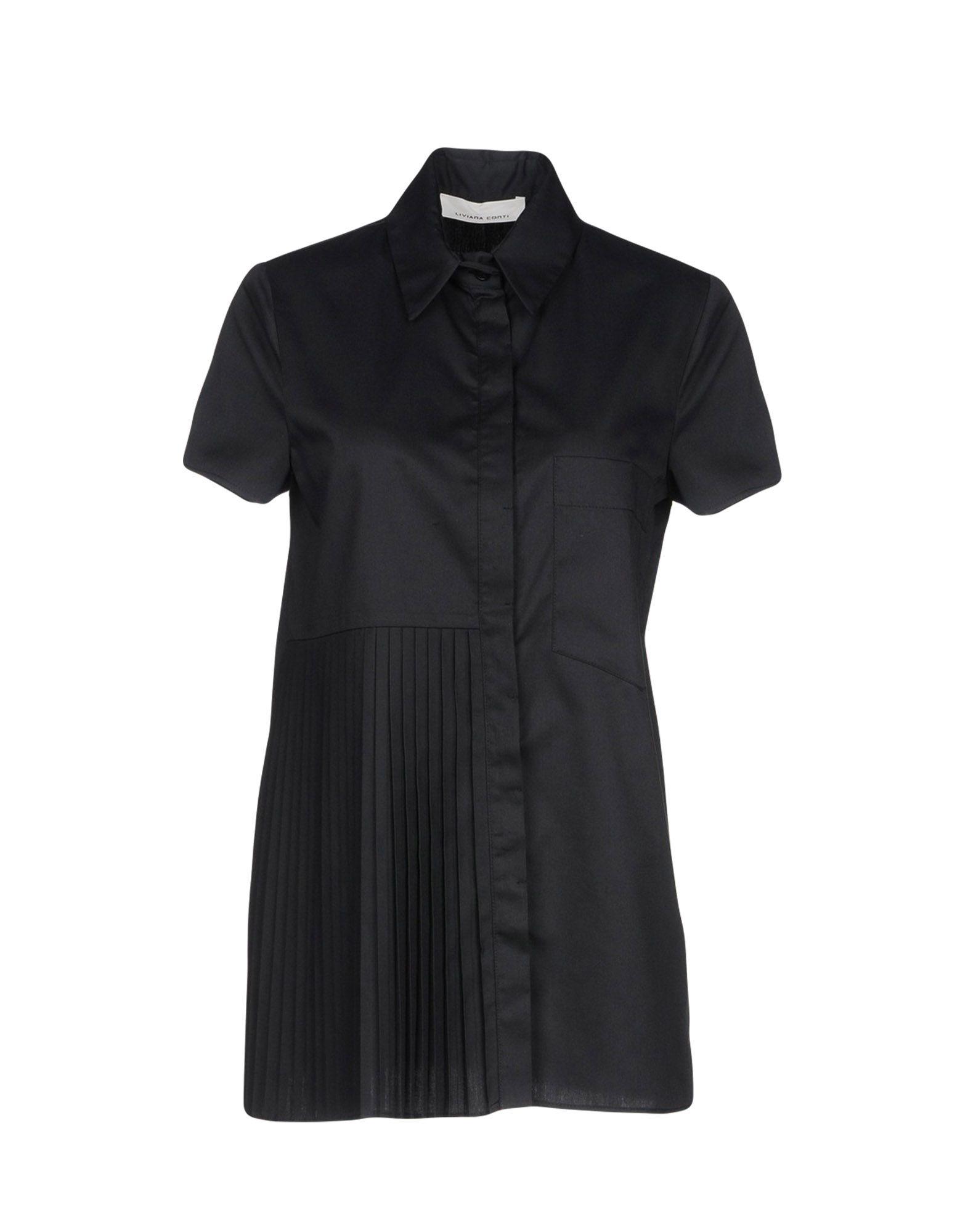 LIVIANA CONTI Damen Hemd Farbe Schwarz Größe 7