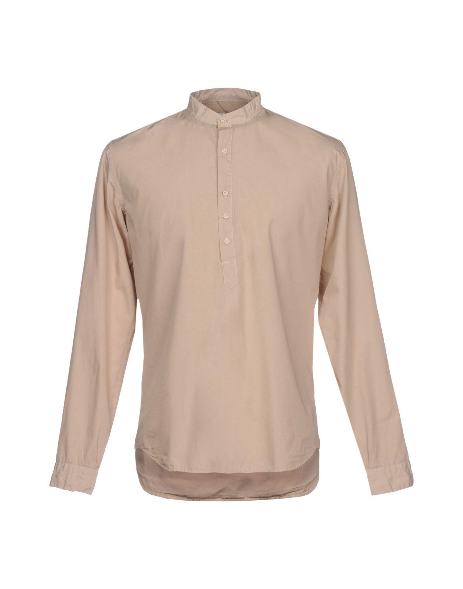 《送料無料》COSTUMEIN メンズ シャツ サンド 44 コットン 100%