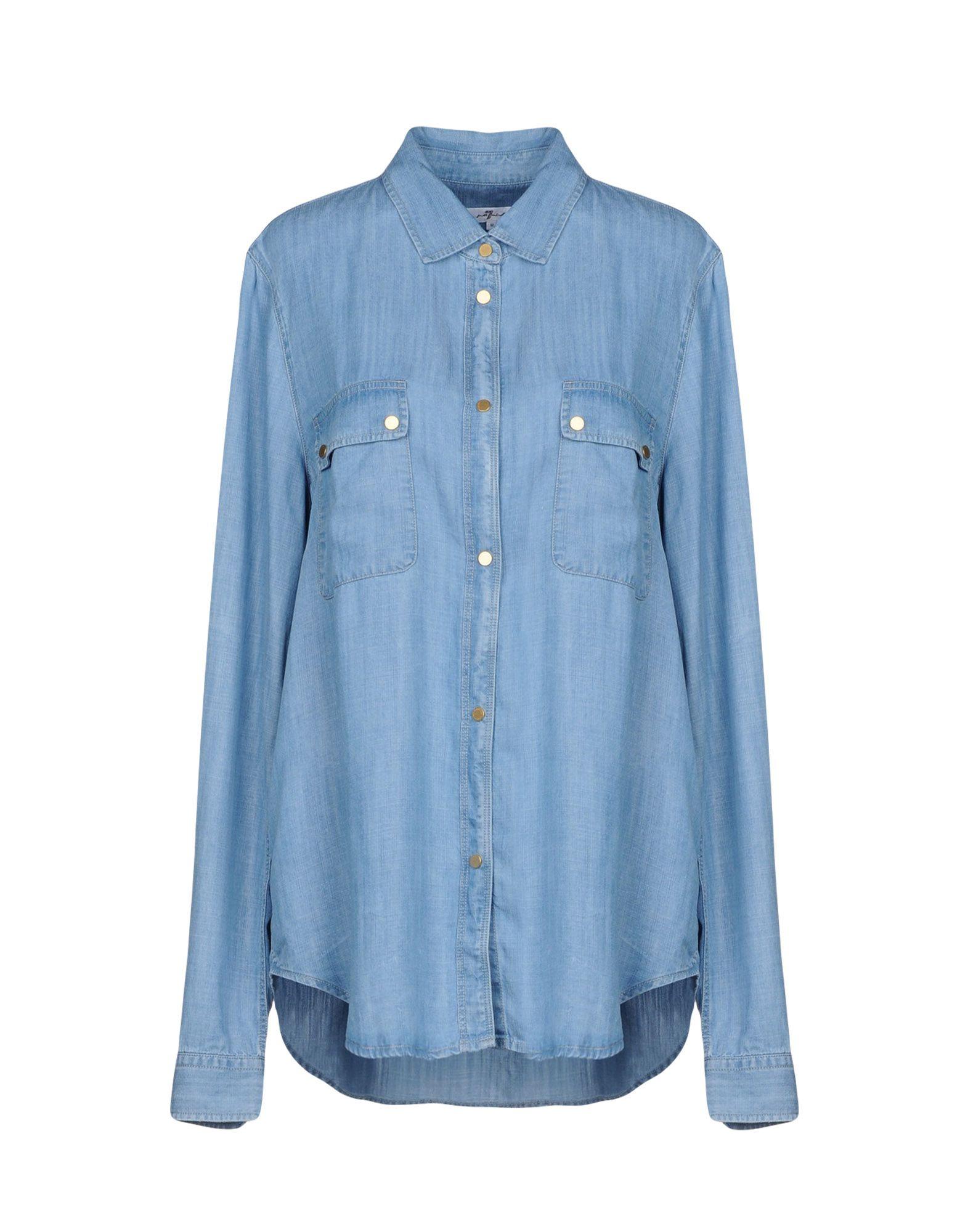 7 FOR ALL MANKIND Джинсовая рубашка 7 for all mankind джинсовая верхняя одежда