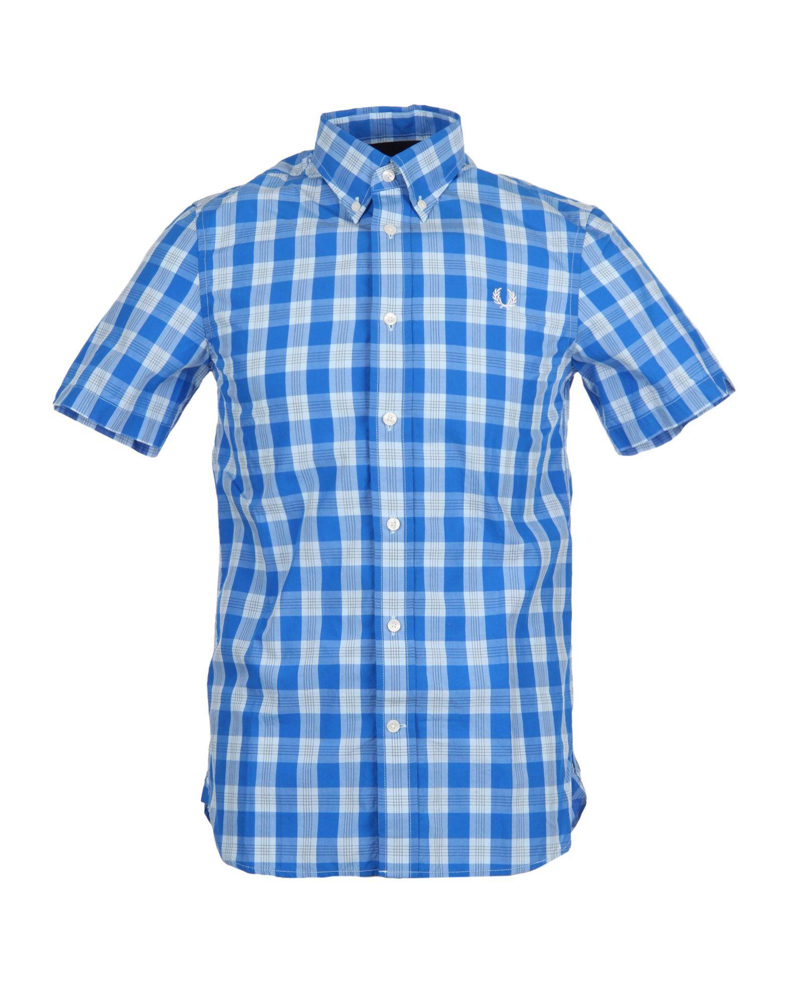 《送料無料》FRED PERRY メンズ シャツ ブルー XS コットン