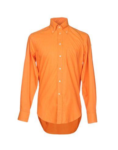 BAGUTTA メンズ シャツ オレンジ 39 コットン 100%