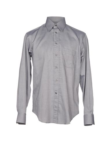 BAGUTTA メンズ シャツ グレー 40 コットン 100%