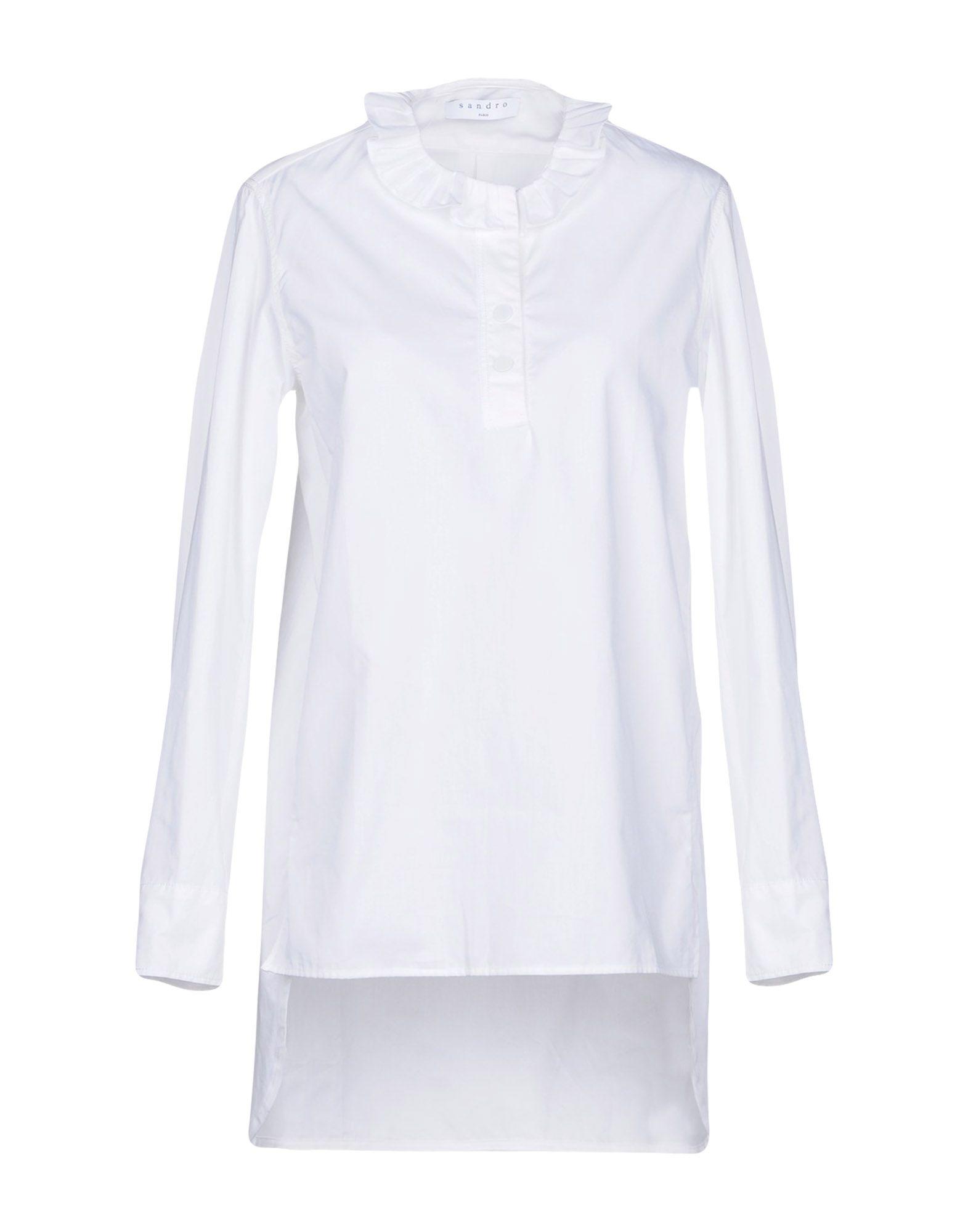 SANDRO PARIS Blouse in White