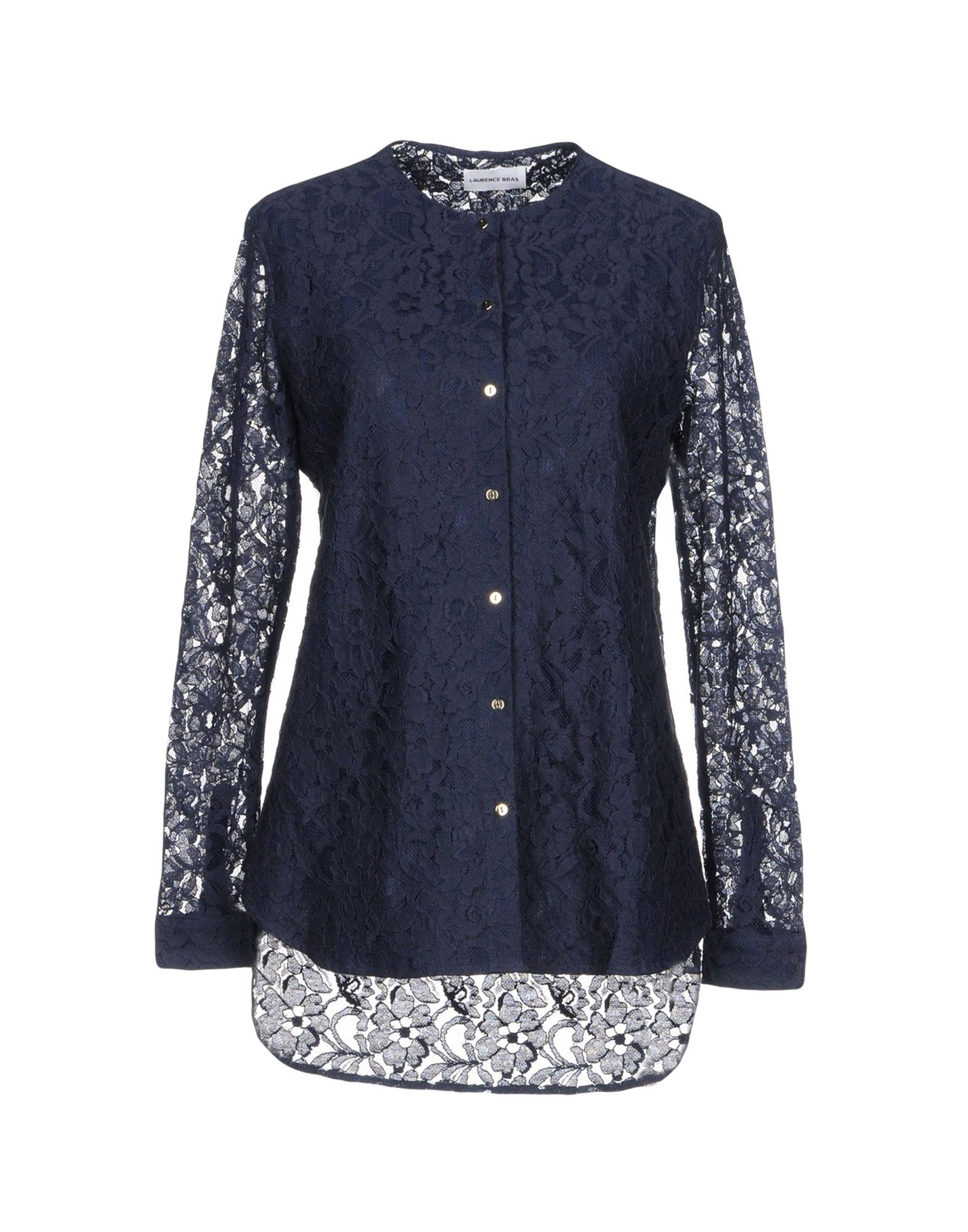 LAURENCE BRAS Lace Shirts & Blouses in Dark Blue