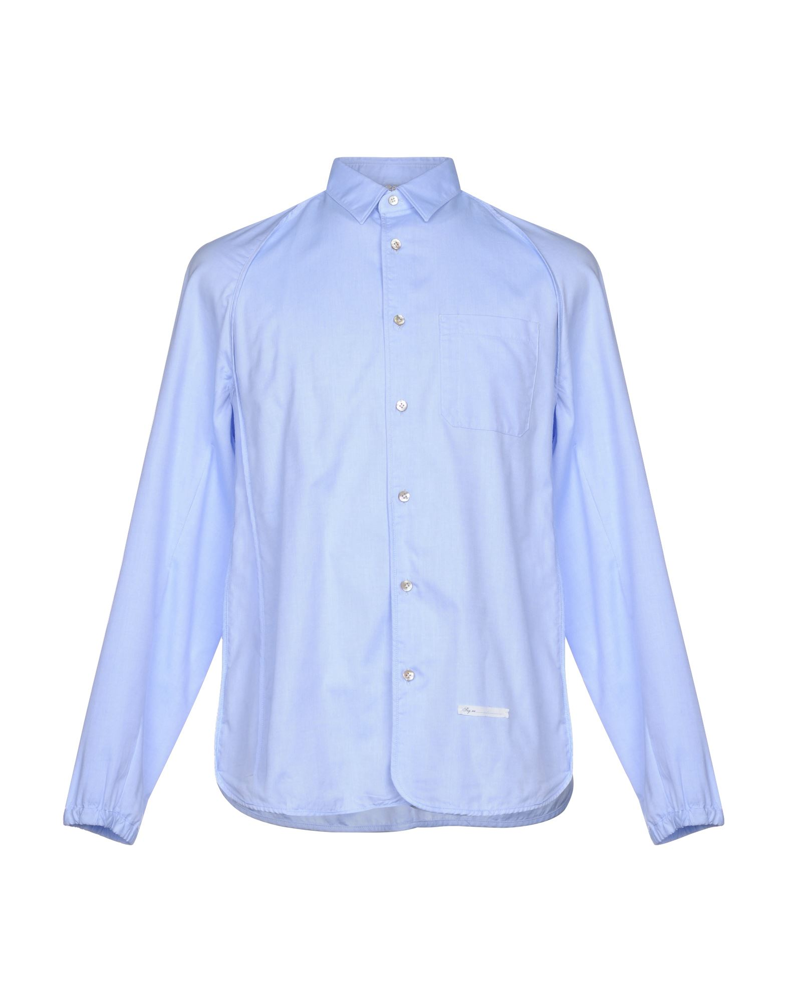 DNL Solid Color Shirt in Sky Blue