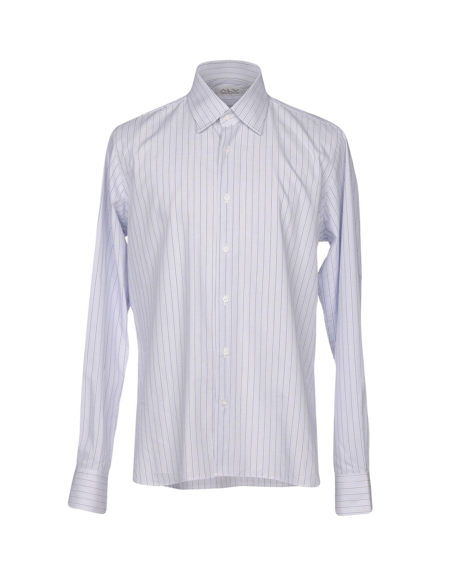 《期間限定セール中》ALV ANDARE LONTANO VIAGGIANDO メンズ シャツ ライトグレー 43 コットン 100%