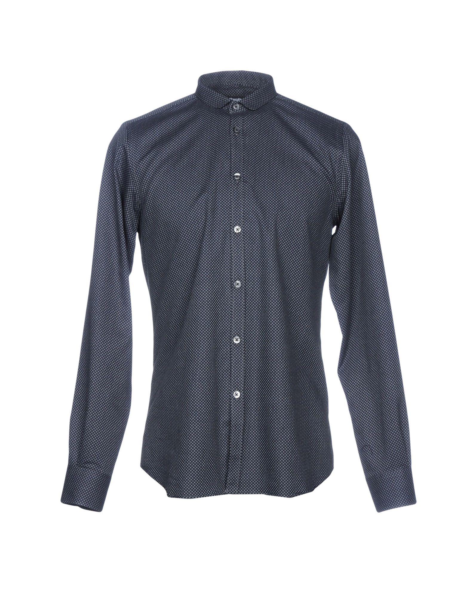 《送料無料》STILOSOPHY INDUSTRY メンズ シャツ ブラック S コットン 100%