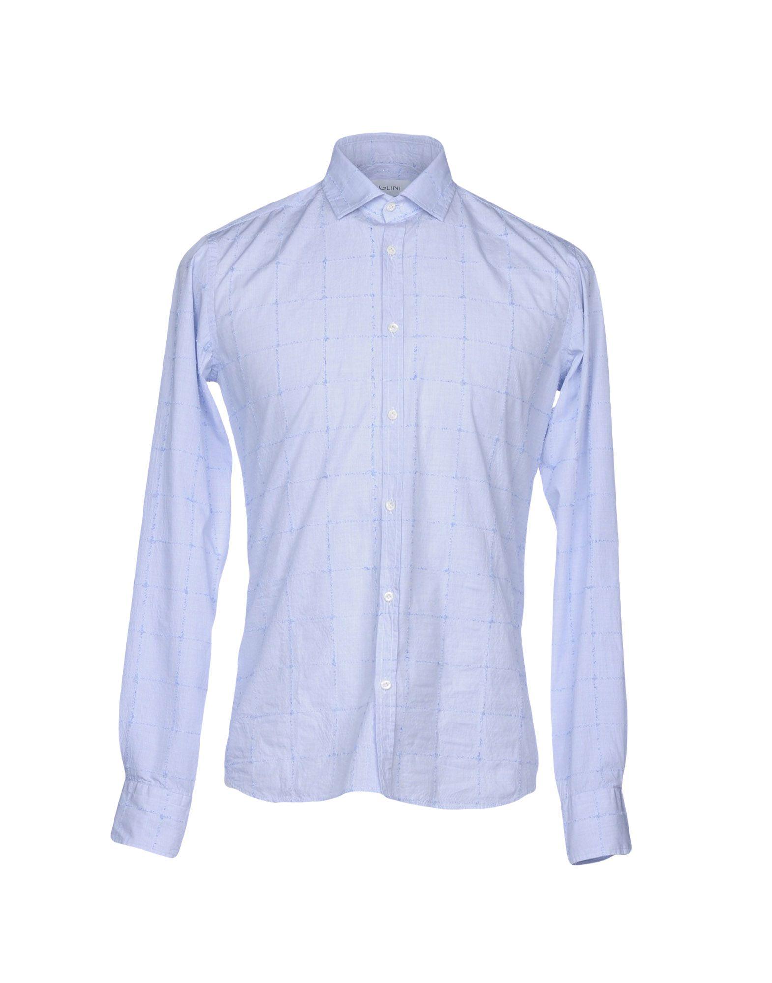AGLINI Striped Shirt in Blue