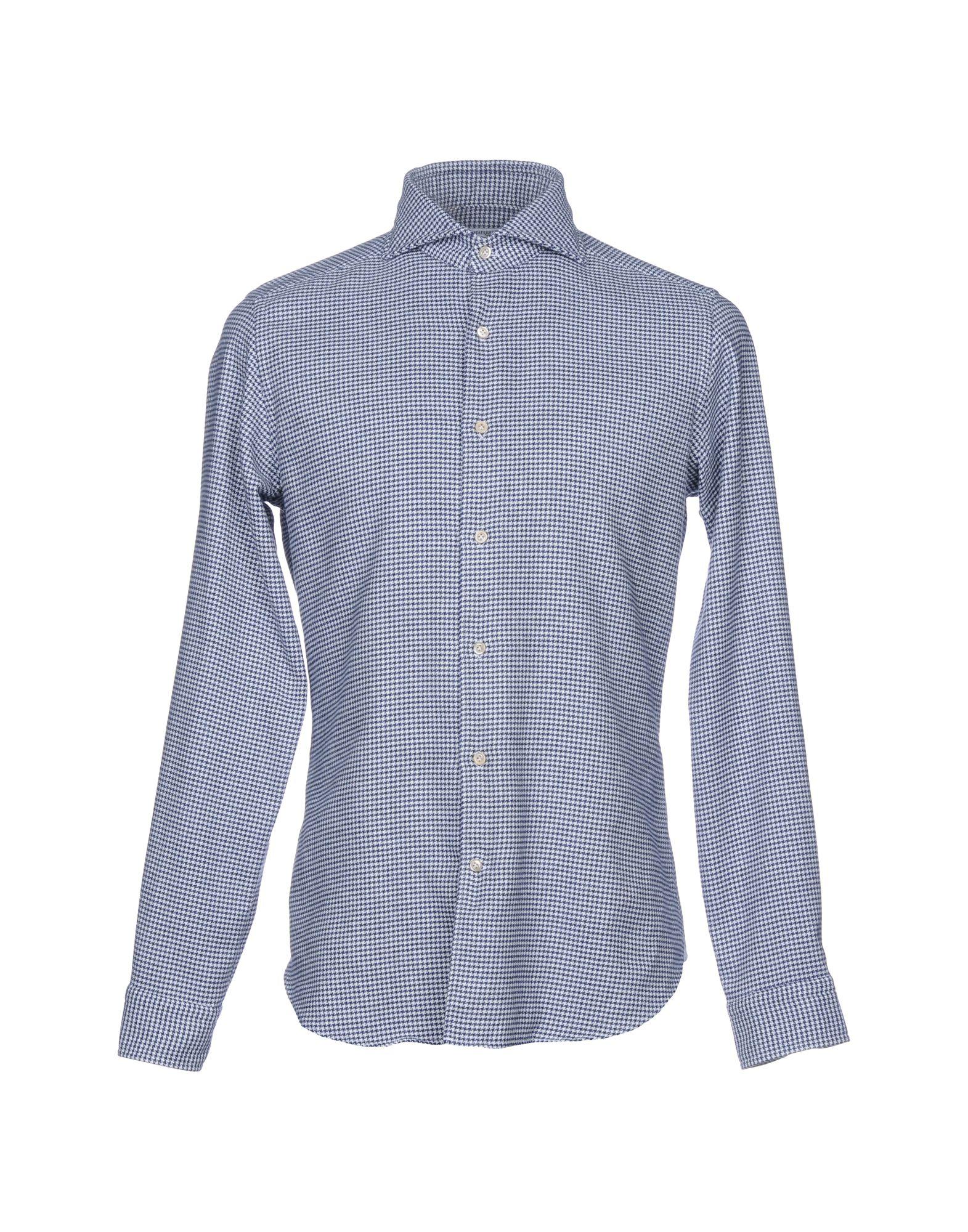 《送料無料》MASTAI FERRETTI メンズ シャツ ダークブルー 39 コットン 100%