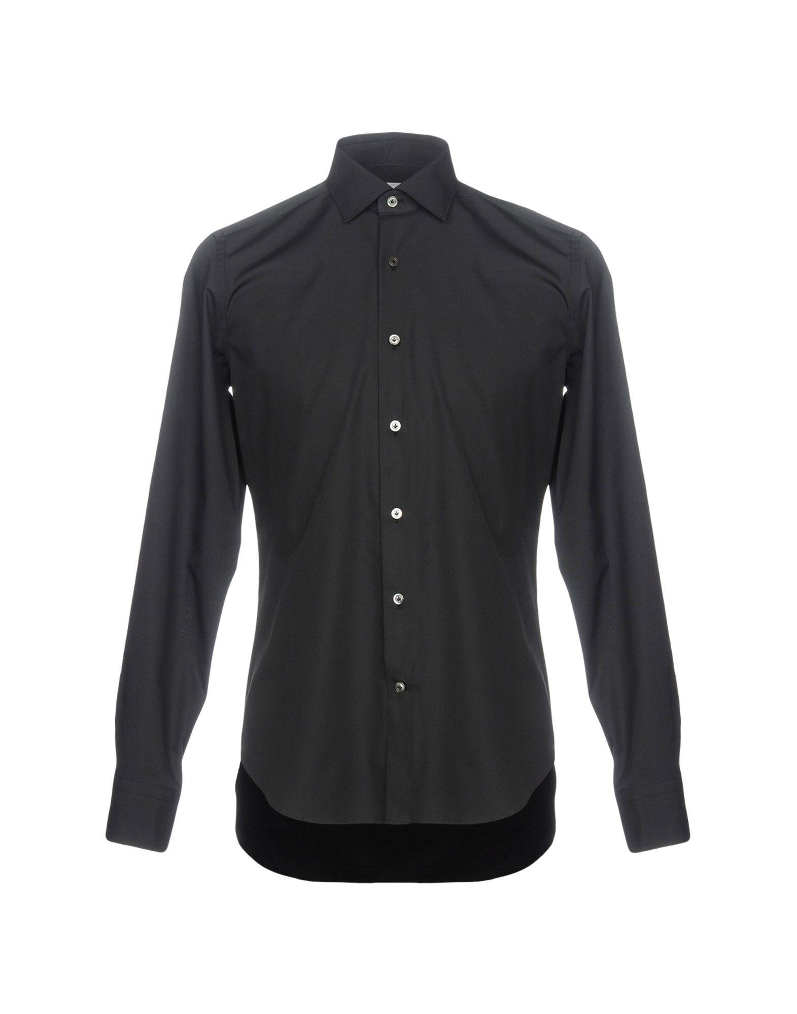 《送料無料》MASTAI FERRETTI メンズ シャツ ブラック 41 コットン 100%
