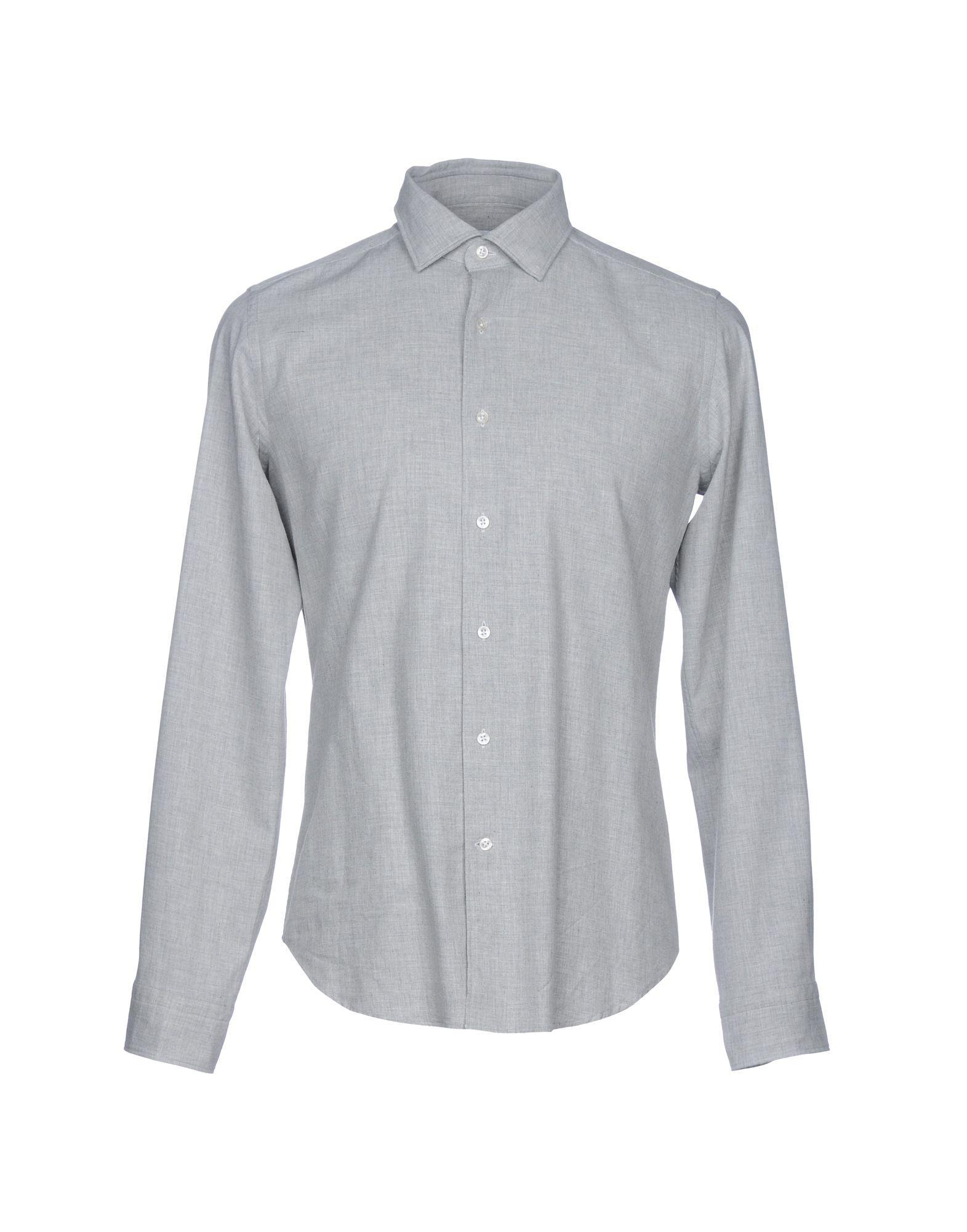 《送料無料》MASTAI FERRETTI メンズ シャツ ライトグレー 43 コットン 100%