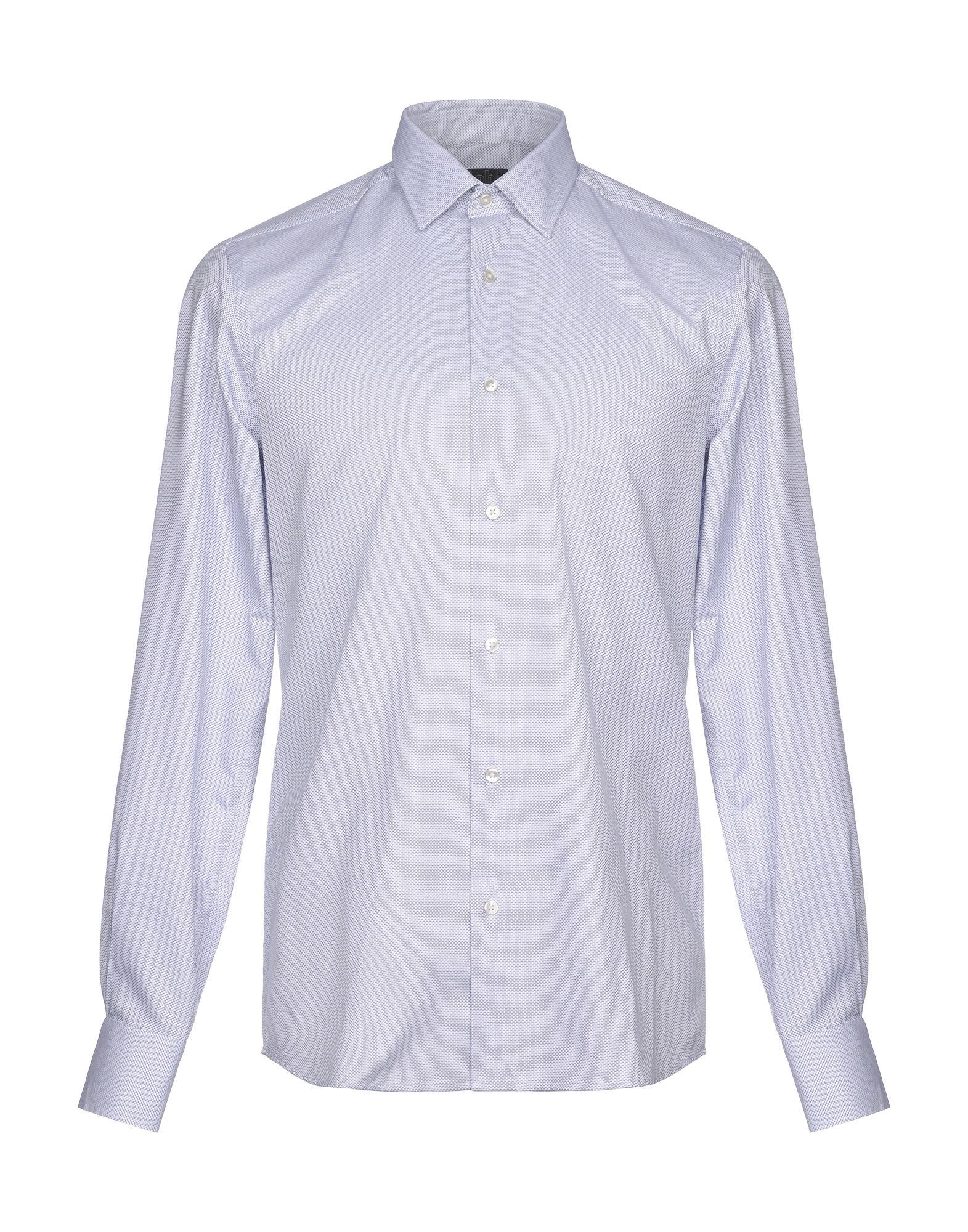 《セール開催中》LAB. PAL ZILERI メンズ シャツ ホワイト 38 コットン 100%