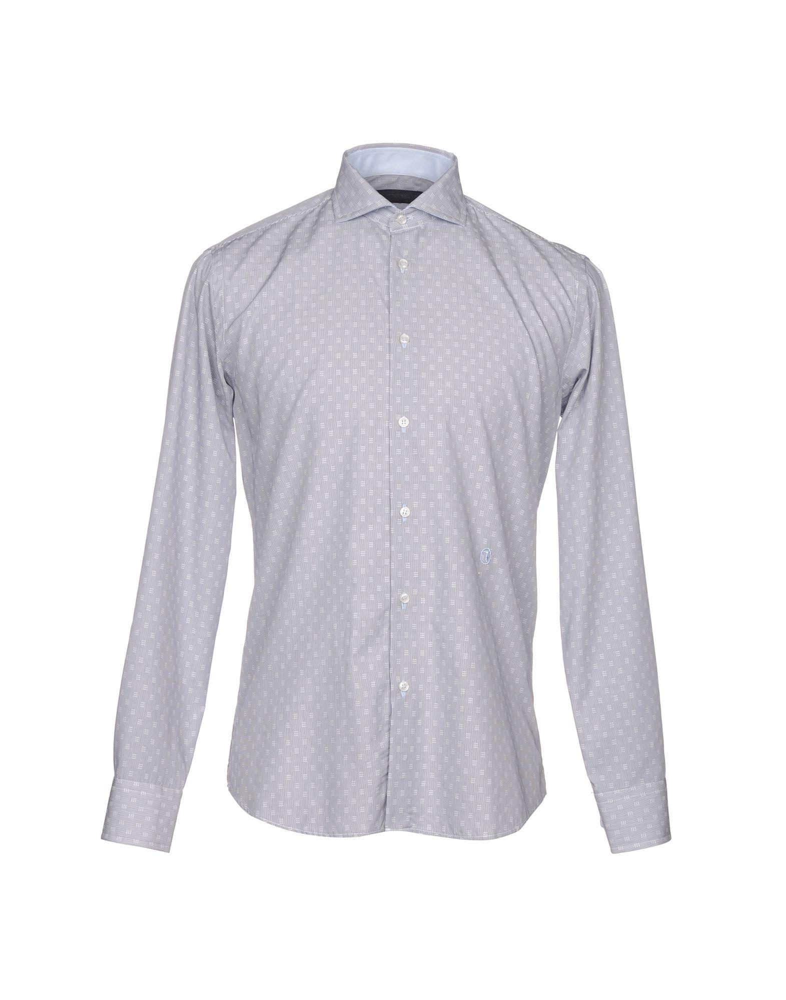 TRU TRUSSARDI Striped Shirt in Dark Blue