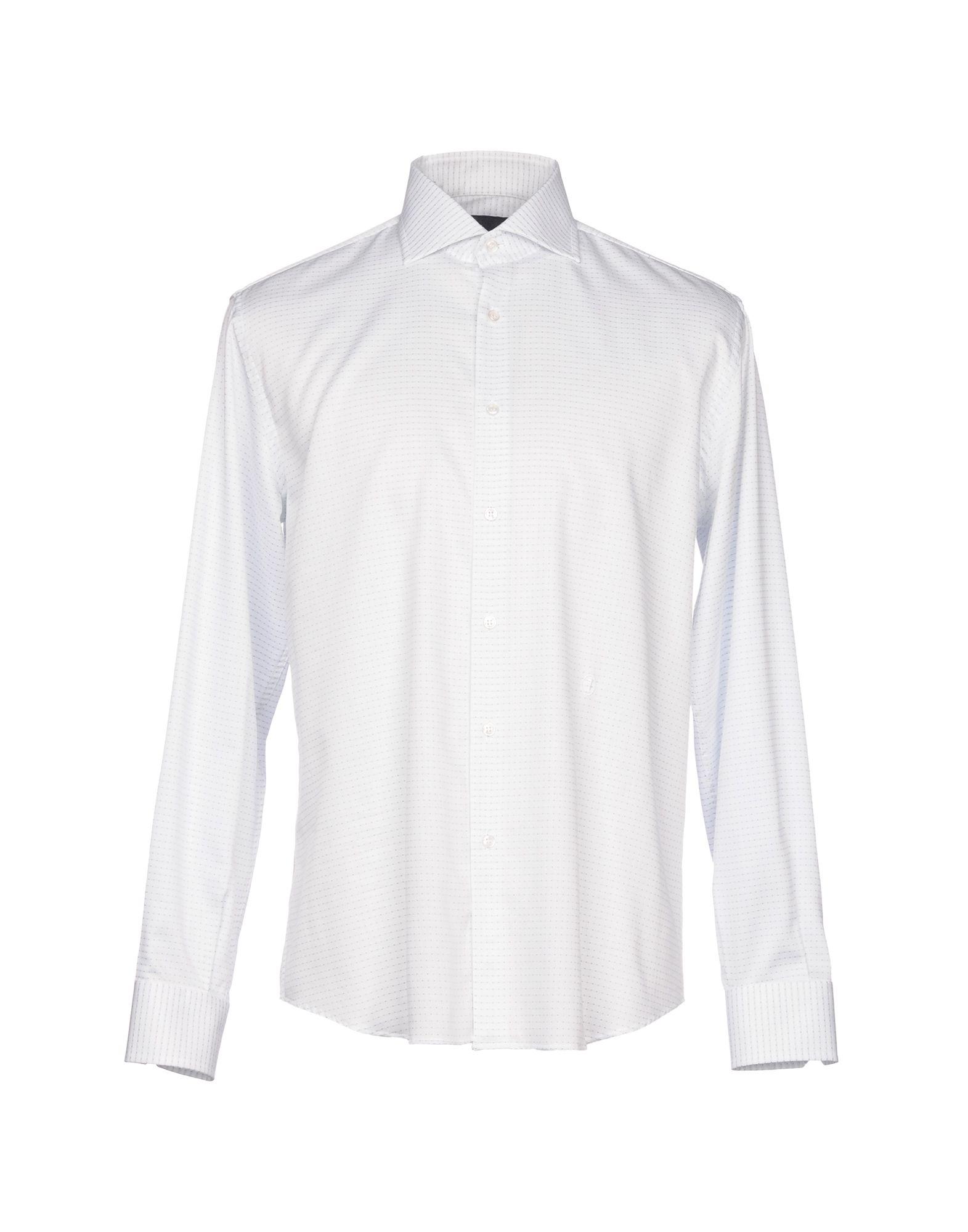 TRU TRUSSARDI Patterned Shirt in White