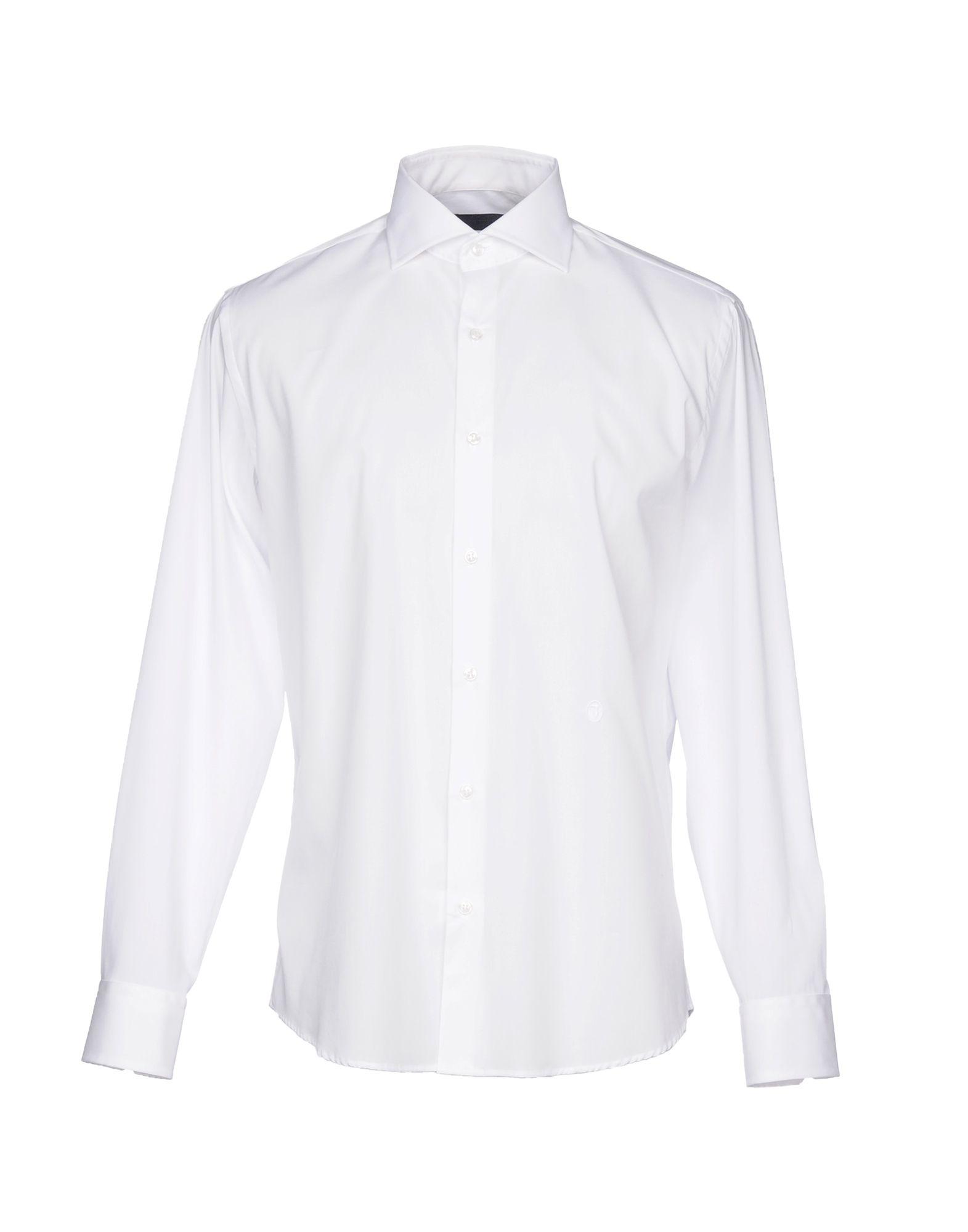 TRU TRUSSARDI Solid Color Shirt in White