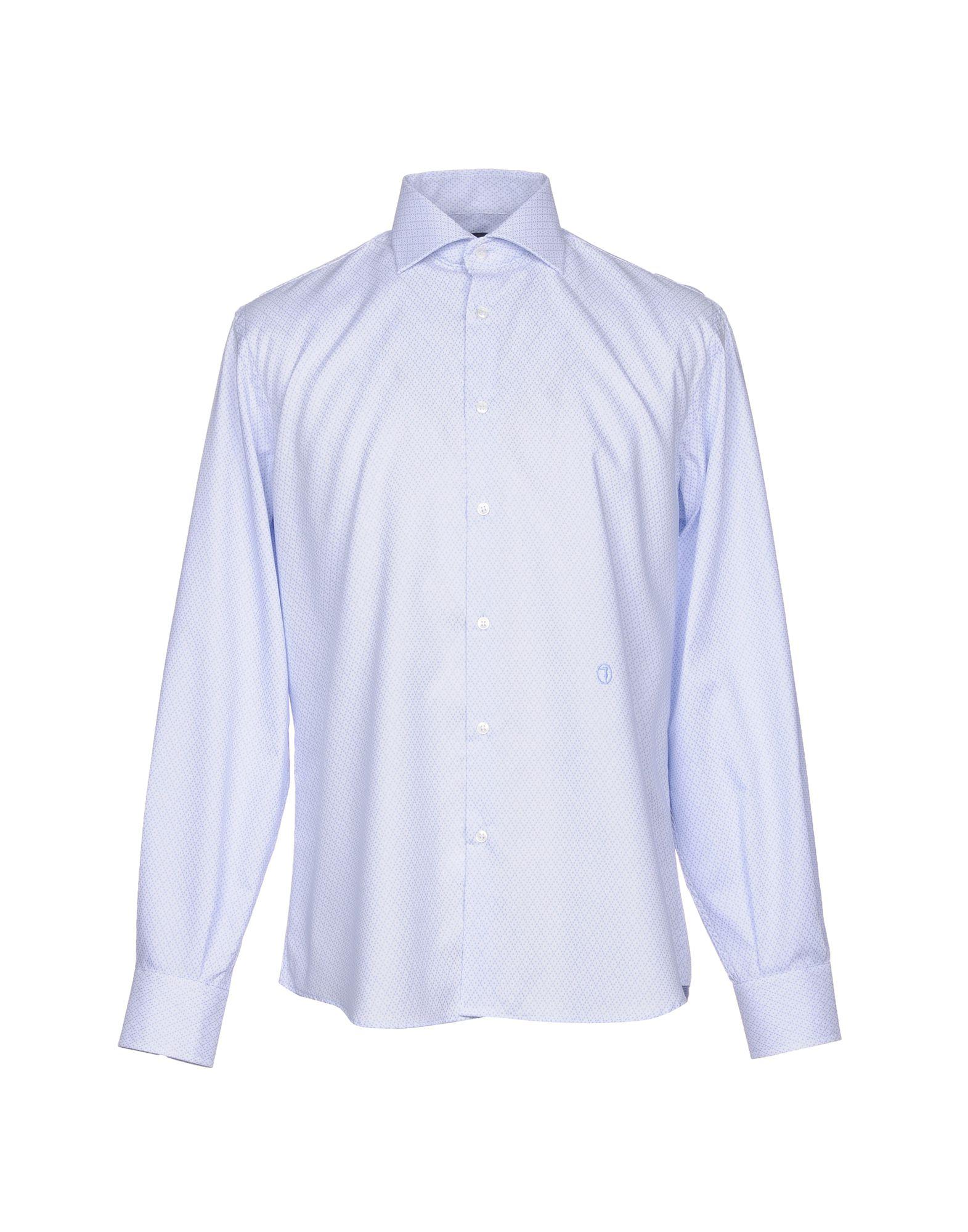 TRU TRUSSARDI Patterned Shirt in Azure